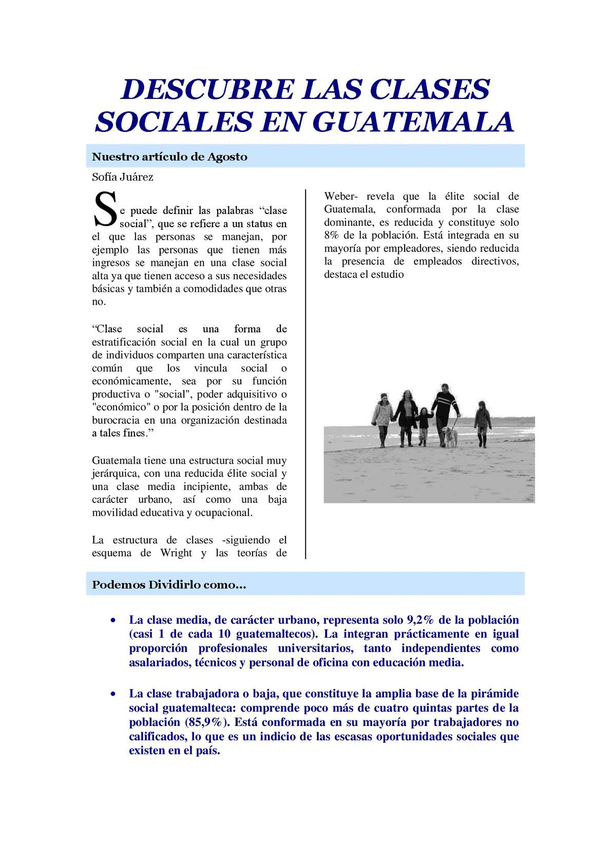 Calaméo - DESCUBRE LAS CLASES SOCIALES EN GUATEMALA