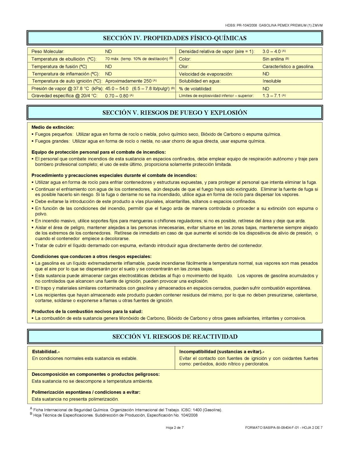 HOJA MSDS GASOLINA - CALAMEO Downloader
