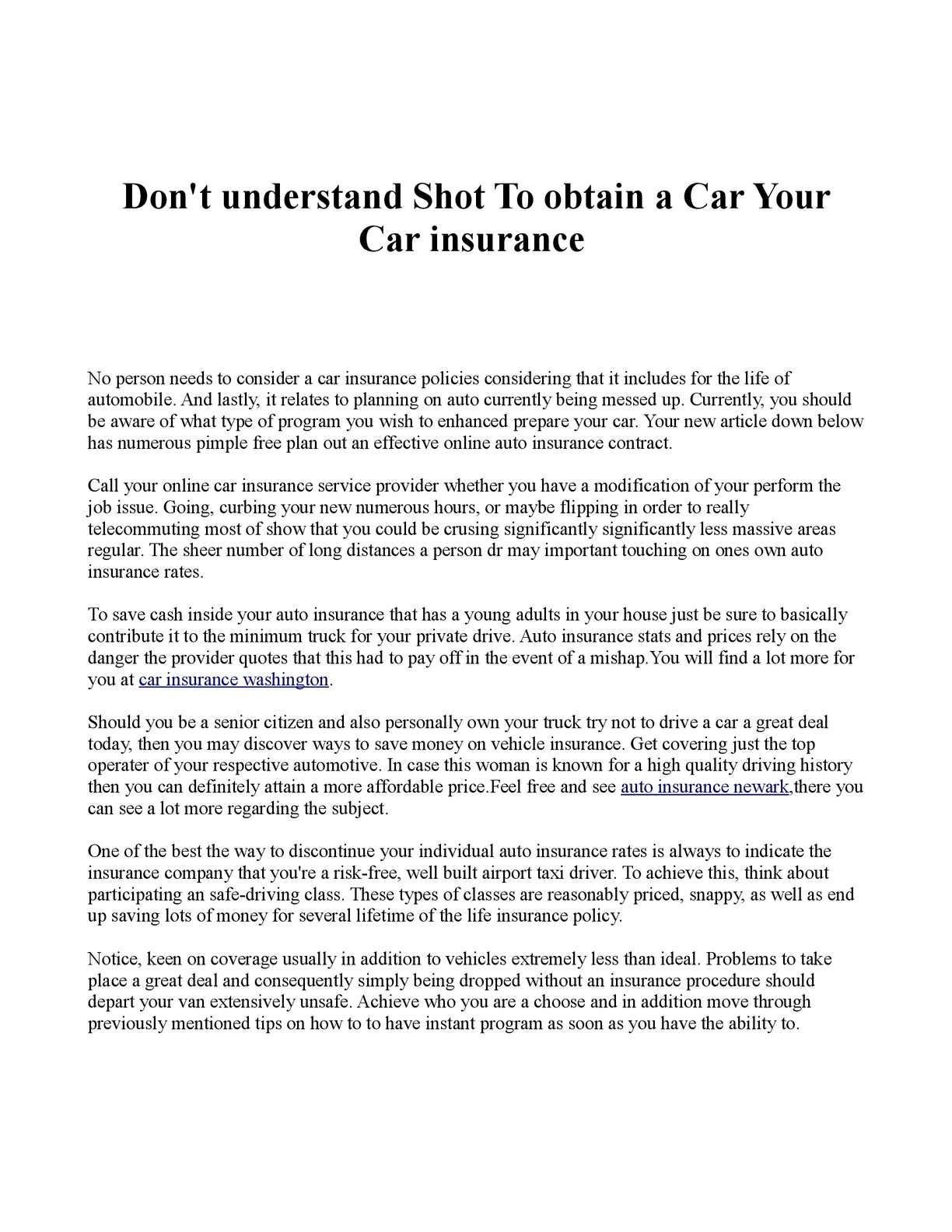 Calaméo Dont Understand Shot To Obtain A Car Your Car Insurance - Show car insurance companies