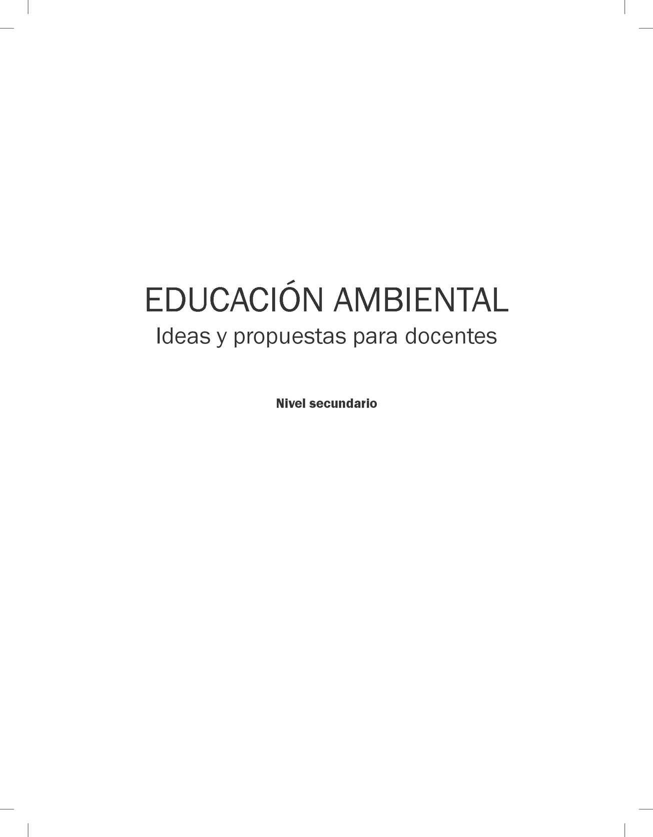 Calaméo - Manual de Educación Ambiental para Nivel Secundario ...