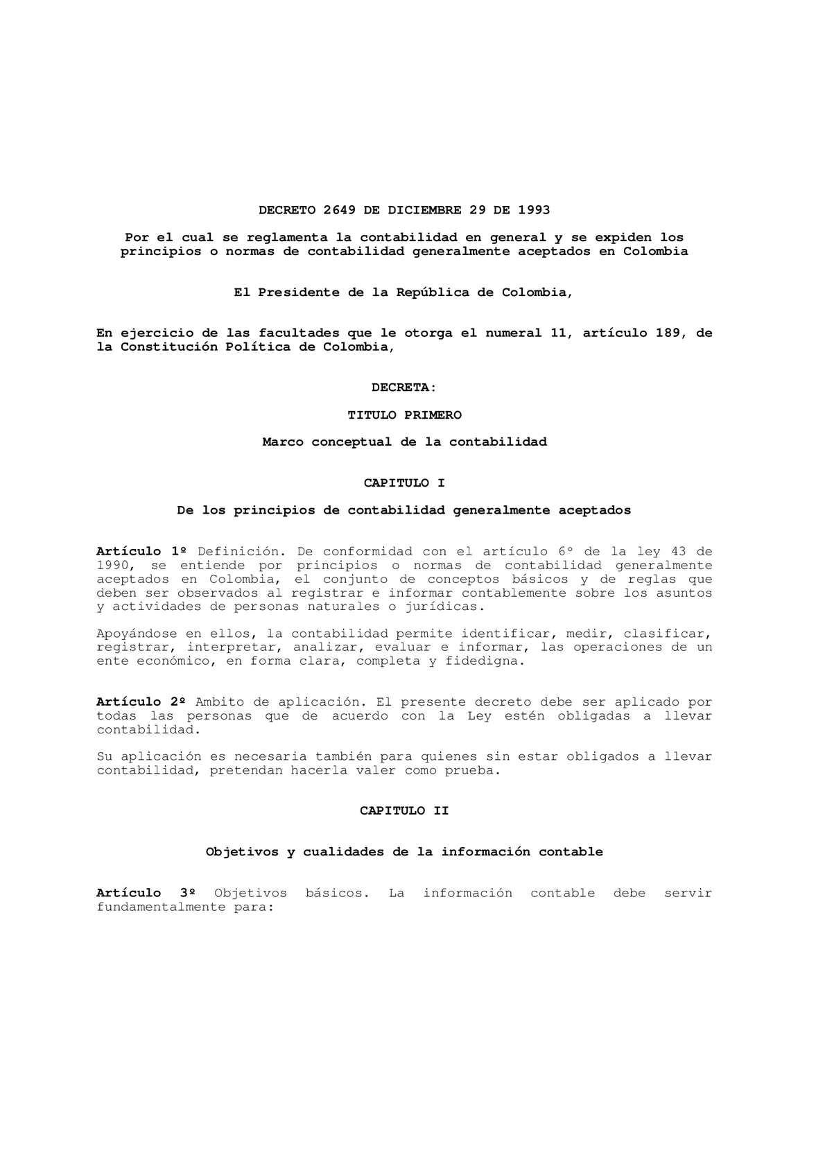 Calaméo - Principios de contabilidad generalmente aceptados en Colombia