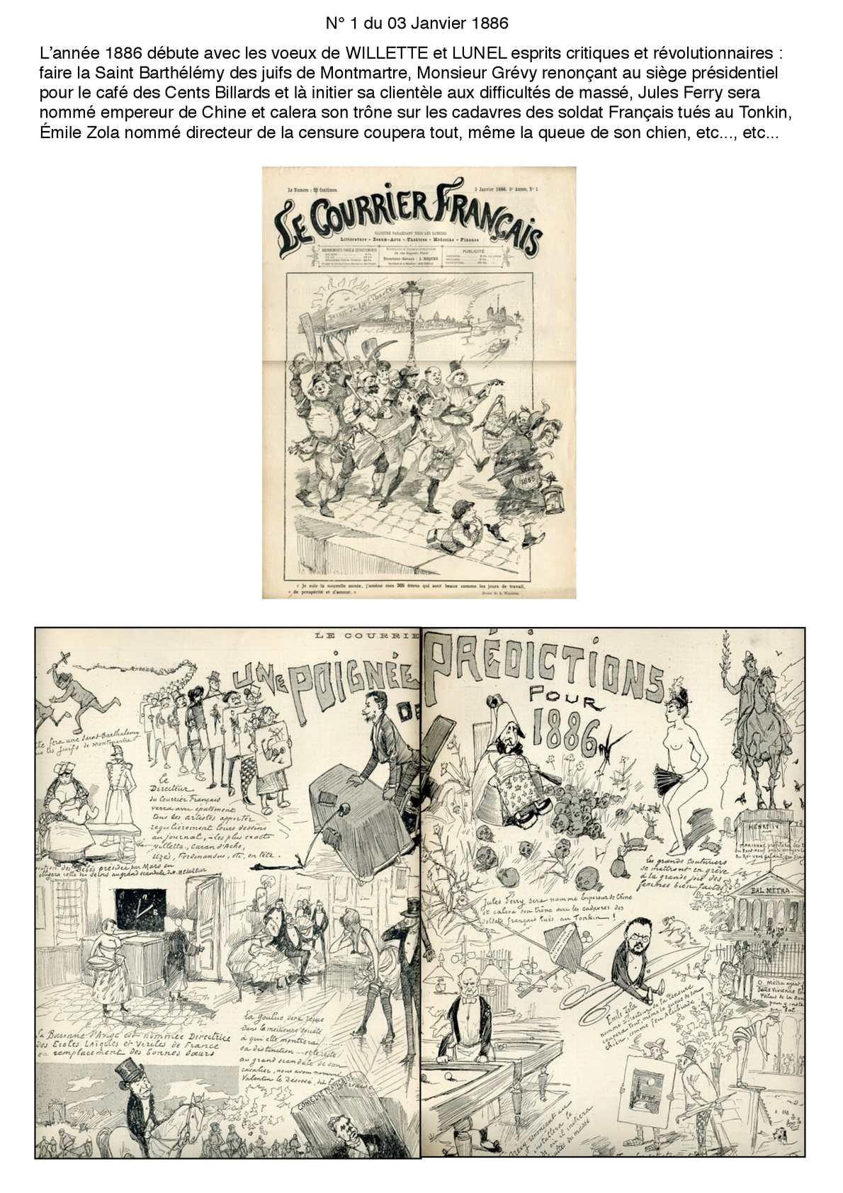 Le Courrier Français 1° semestre 1886