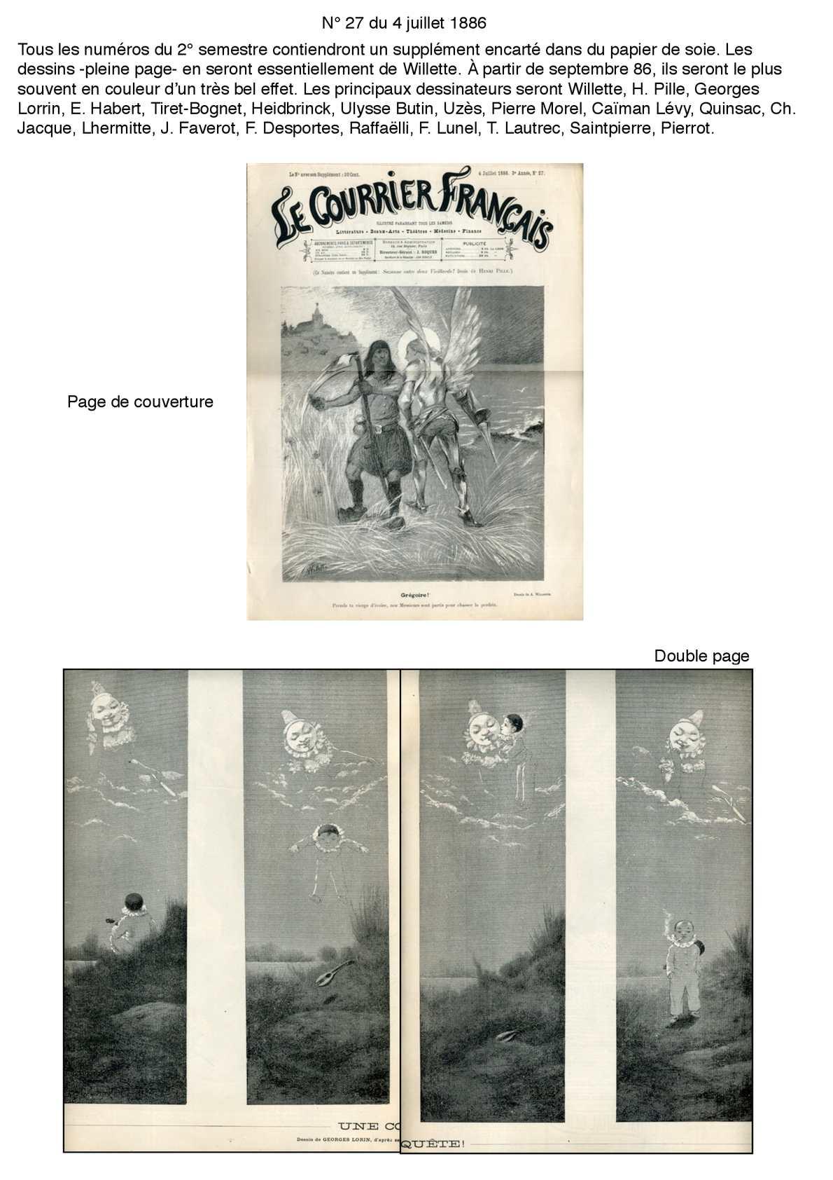 Le Courrier Français 2° semestre 1886