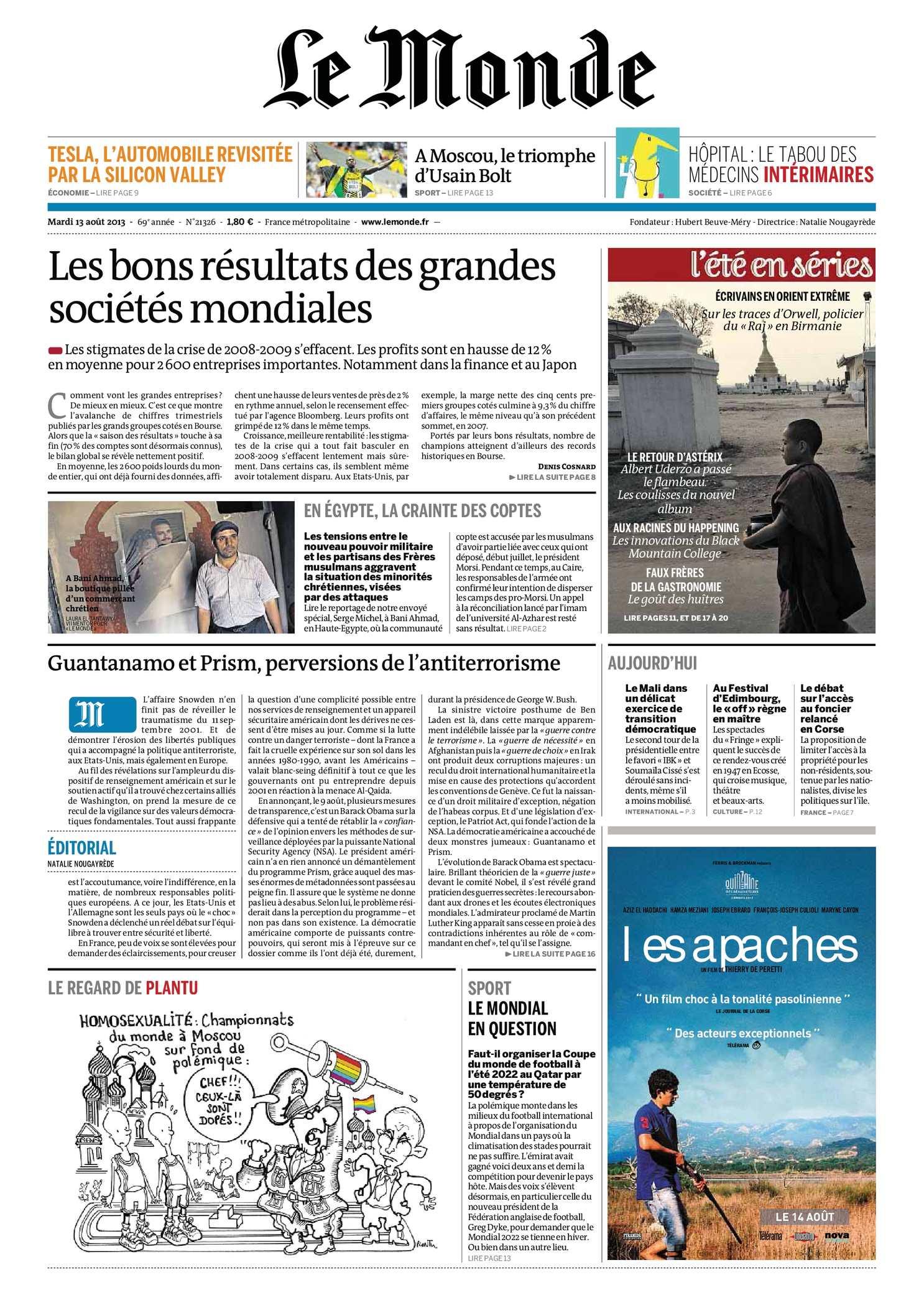 Le Monde du 13.08.2013