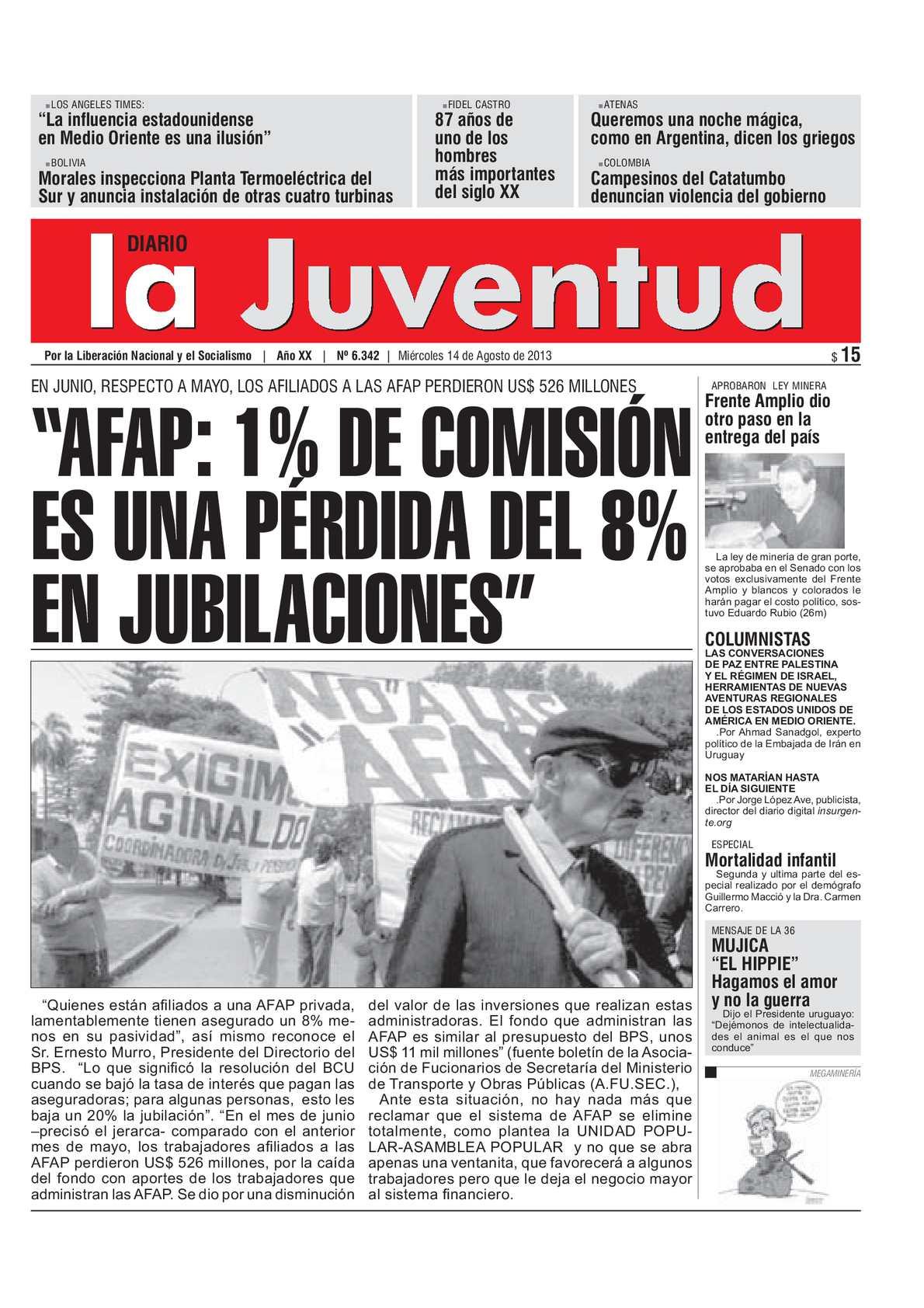 """Calaméo - """"AFAP: 1% DE COMISIÓN ES UNA PÉRDIDA DEL 8% EN JUBILACIONES"""""""