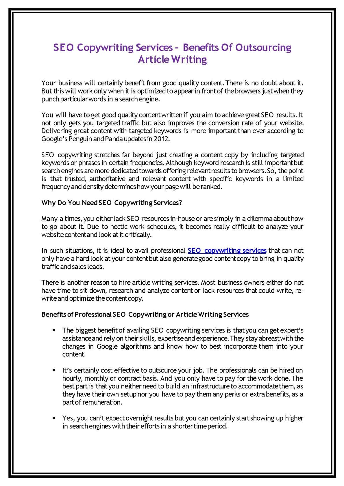 Calamo  Seo Copywriting Services  Benefits Of Outsourcing Article  Calamo  Seo Copywriting Services  Benefits Of Outsourcing Article Writing