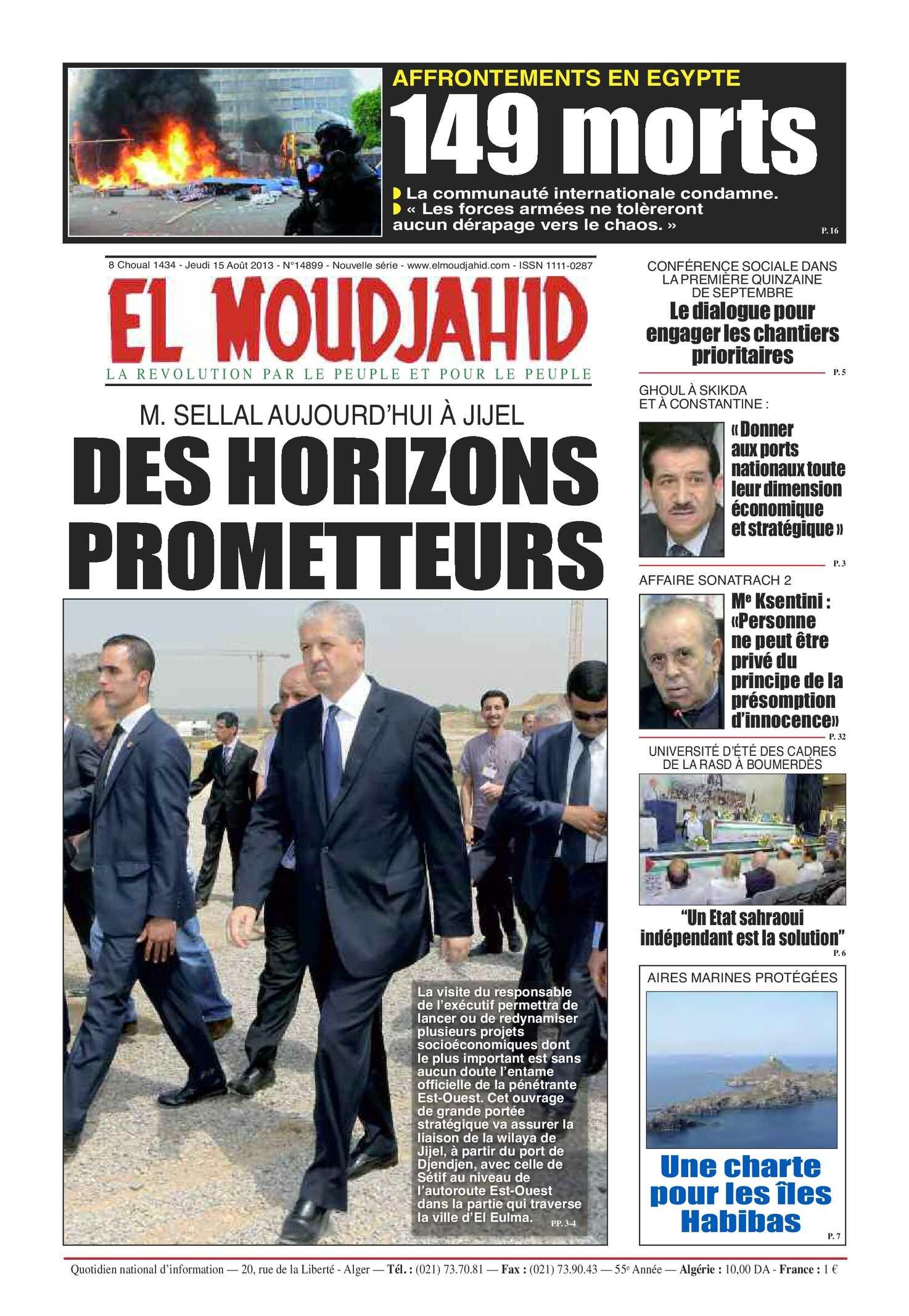 EL MOUDJAHID DU 15.08.2013
