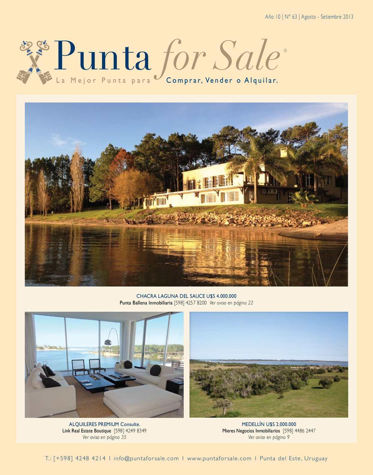 calaméo - punta for sale #63 agosto-septiembre 2013
