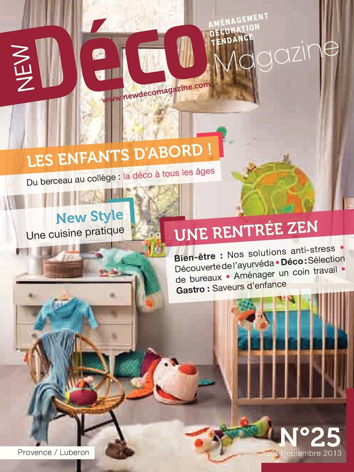New Déco Magazine Août - Septembre 2013