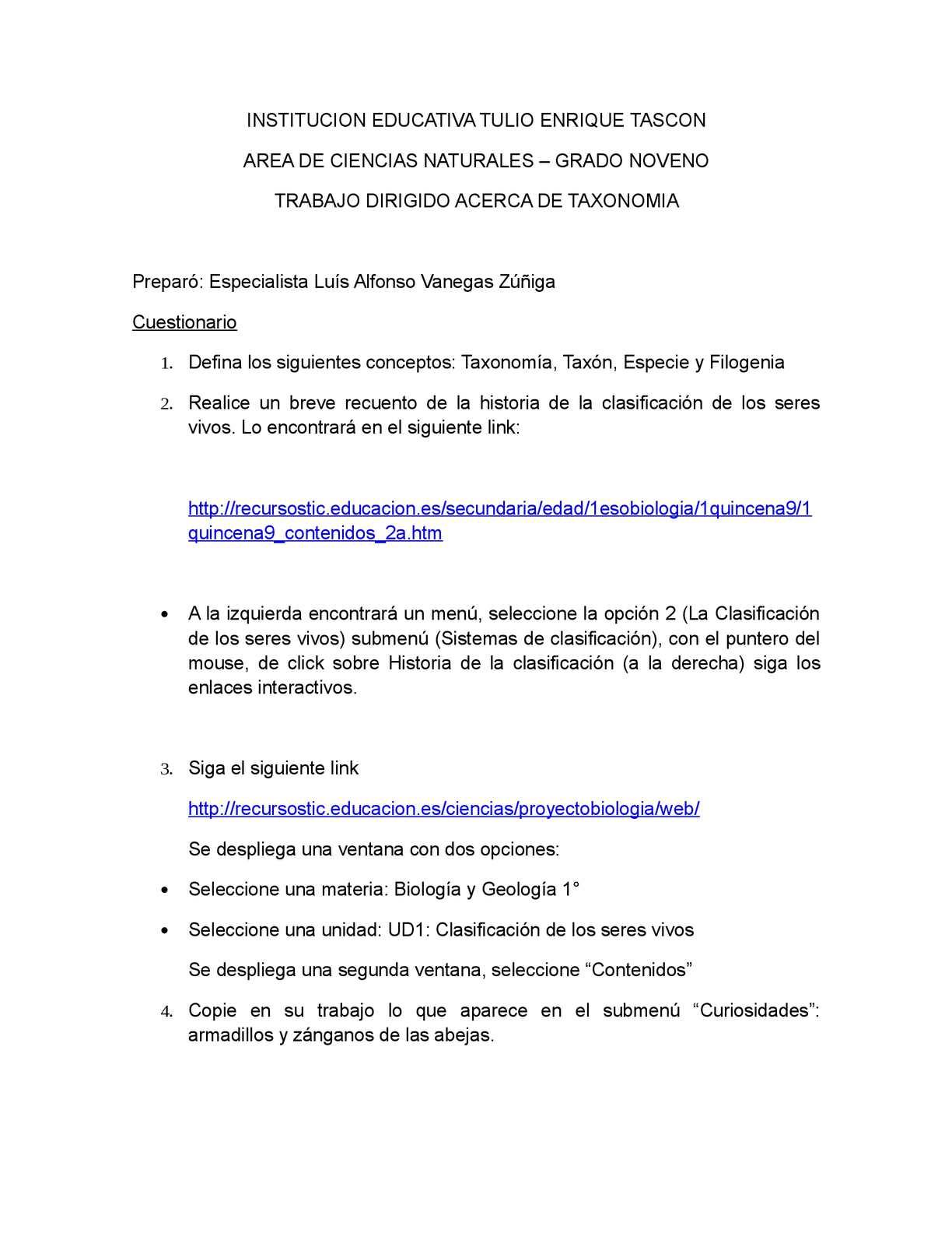 Calaméo - Taxonomía y Clasificación de los Seres Vivos