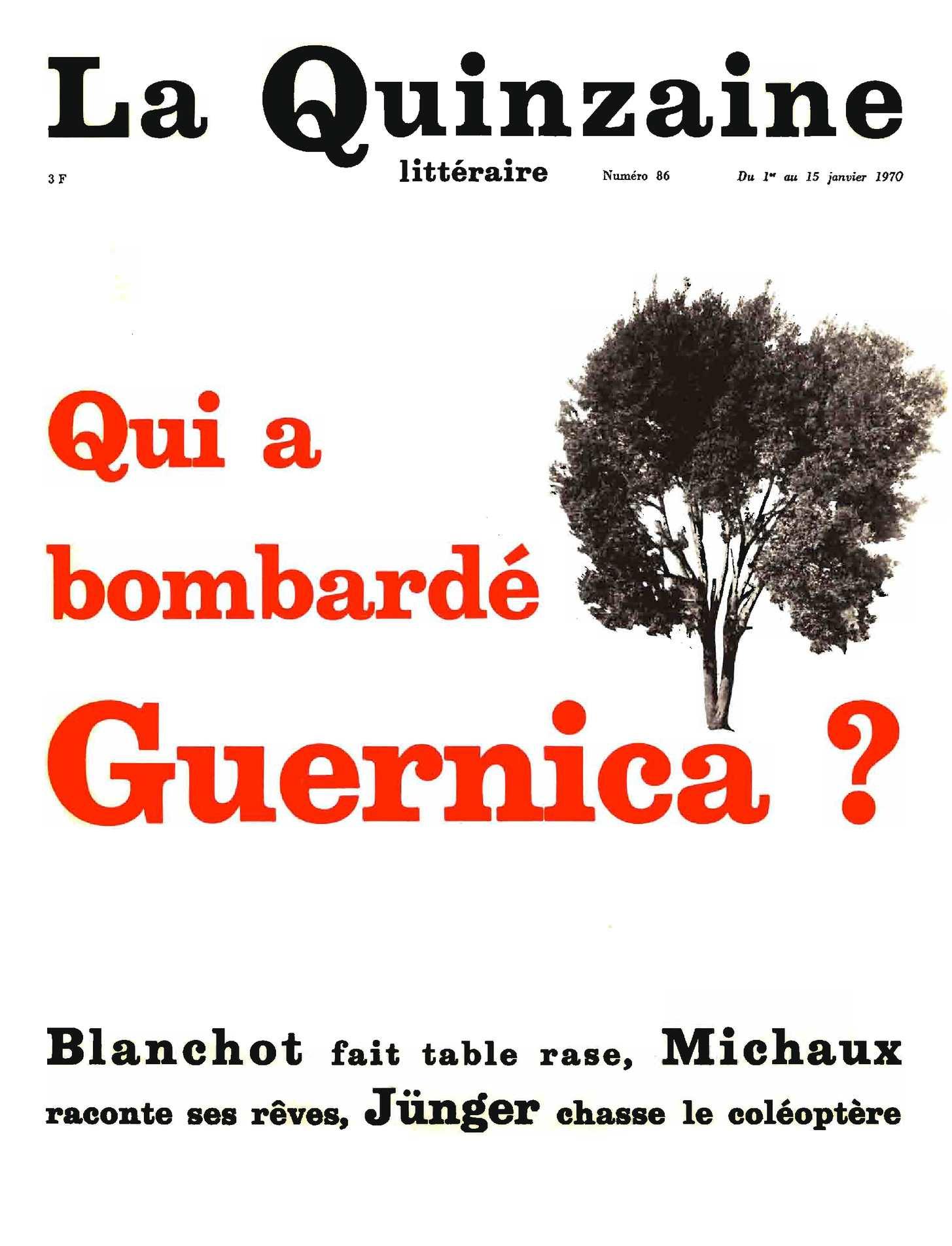 Quinzaine Littéraire 86 (1970)