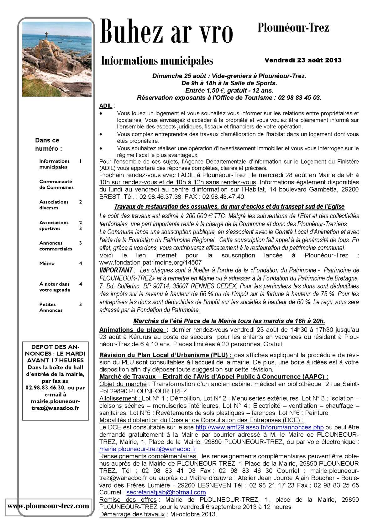Calam o bim du 23 aout 2013 - Plouneour trez office tourisme ...