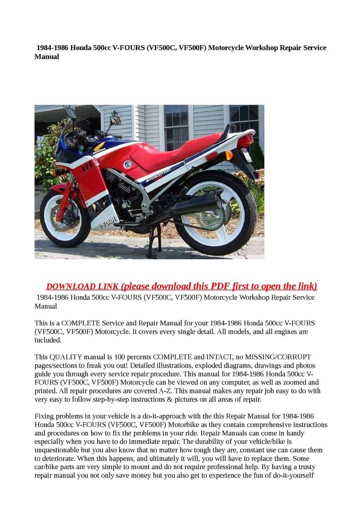 Honda Vf500 Wiring Diagram Trusted Diagrams 1985 Interceptor 1986 Vf500f Diy Enthusiasts U2022 Cb350