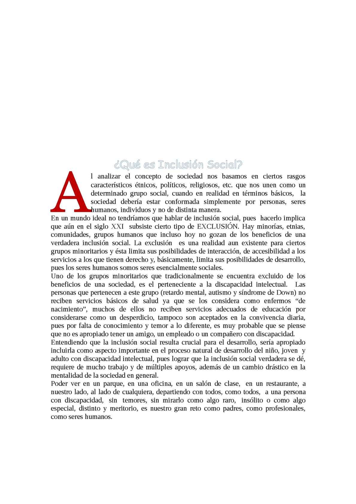 Inclusion Social en el Perú
