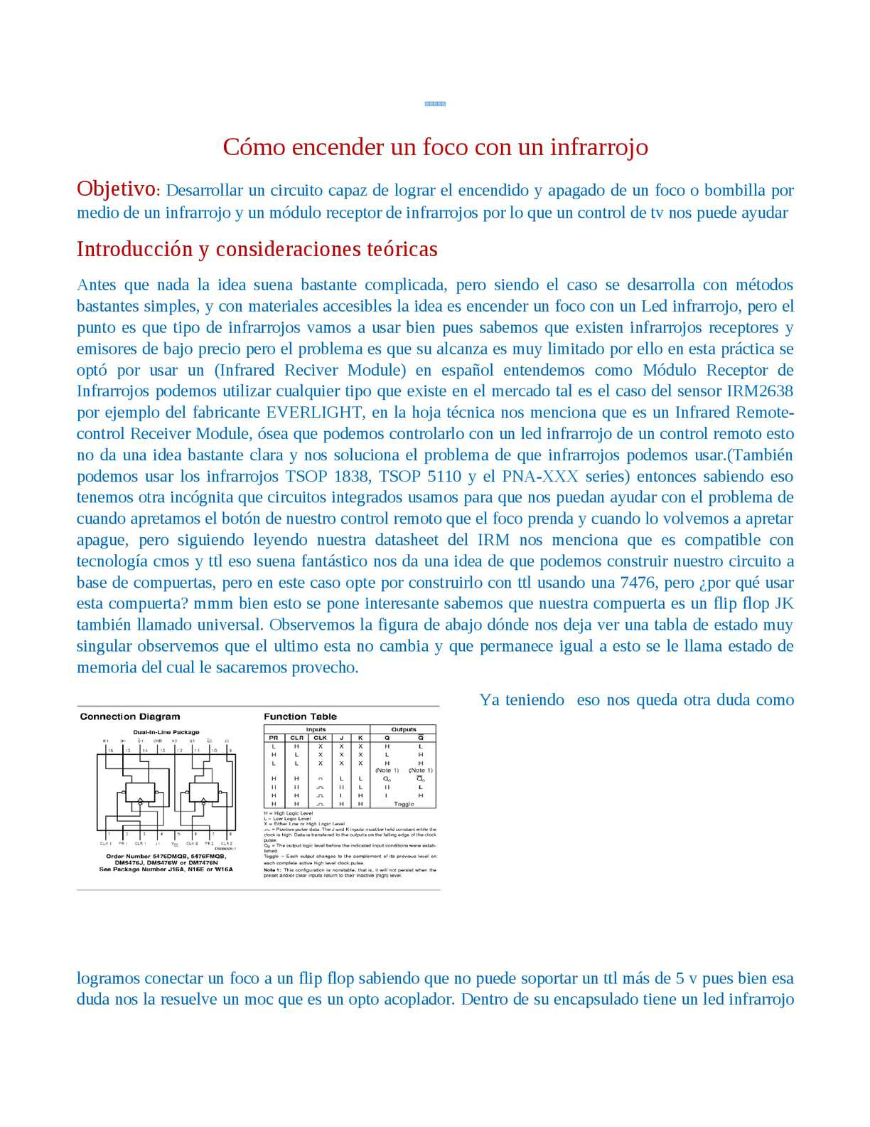 Circuito Optoacoplador : Calaméo encender foco con infrarrojo