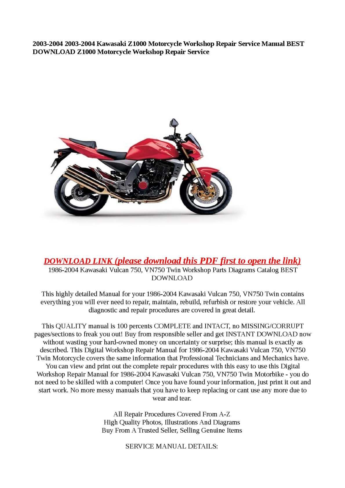 2004 Kawasaki Z1000 Wiring Diagram Manual E Books 1981 Kz650 Librarycalamo 2003 Motorcycle Workshop Repair