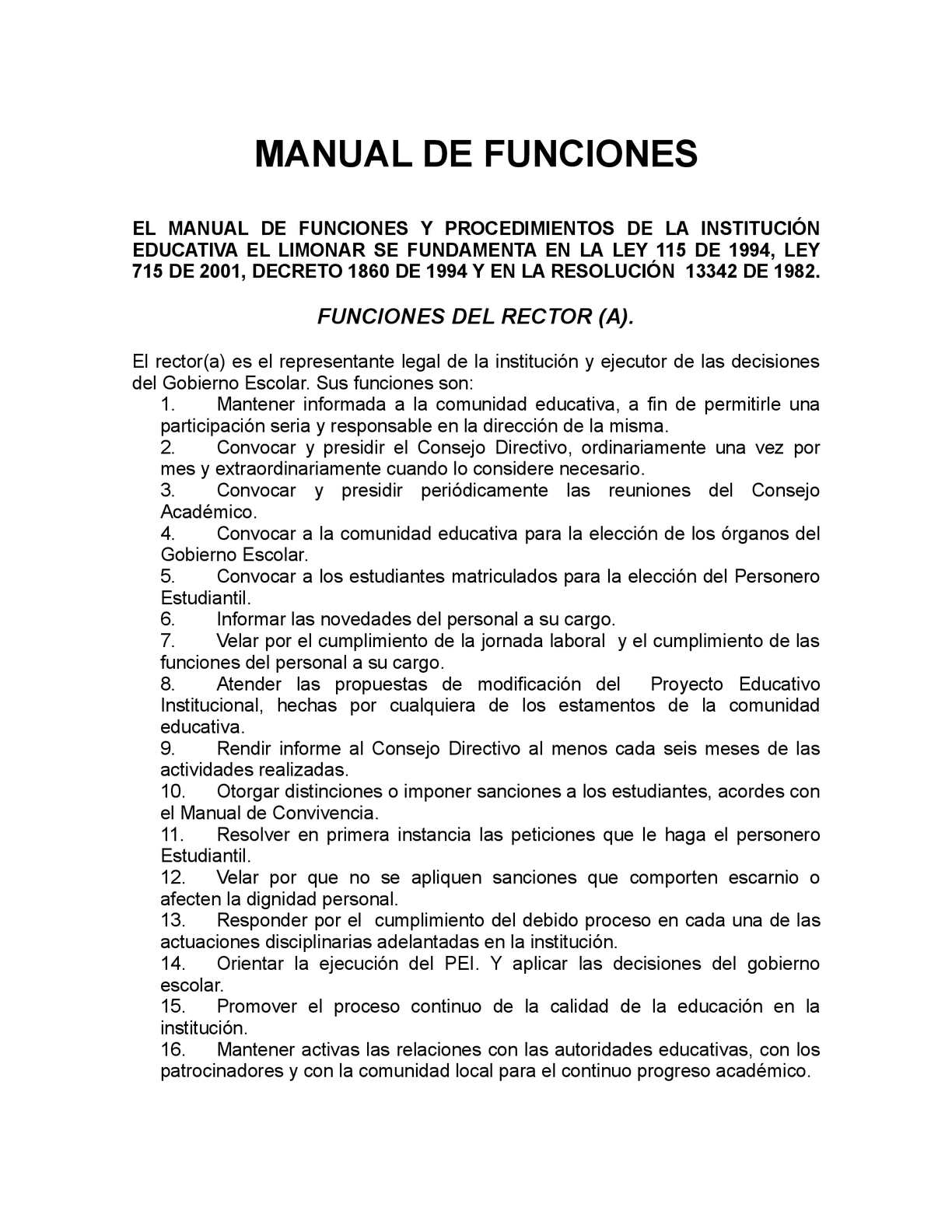 Calam o manual de funciones for Manual de funciones y procedimientos de un restaurante