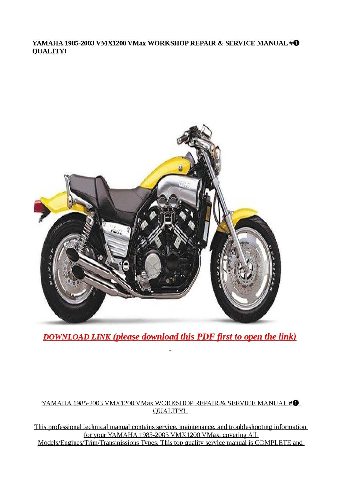 Calamo Yamaha 1985 2003 Vmx1200 Vmax Workshop Repa Engine Diagram