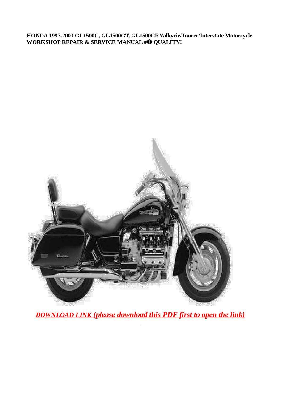 Calaméo - HONDA 1997-2003 GL1500C, GL1500CT, GL1500CF Valkyrie/Tourer/Interstate  Motorcycle WORKSHOP REPAIR & SERVICE MANUAL #➀ QUALITY!