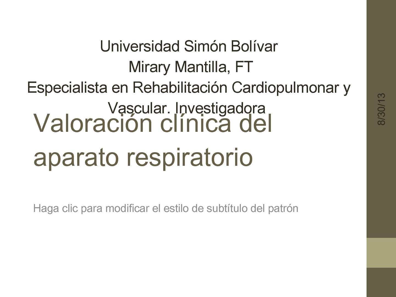 Calaméo - Valoración clinica del Sistema Pulmonar