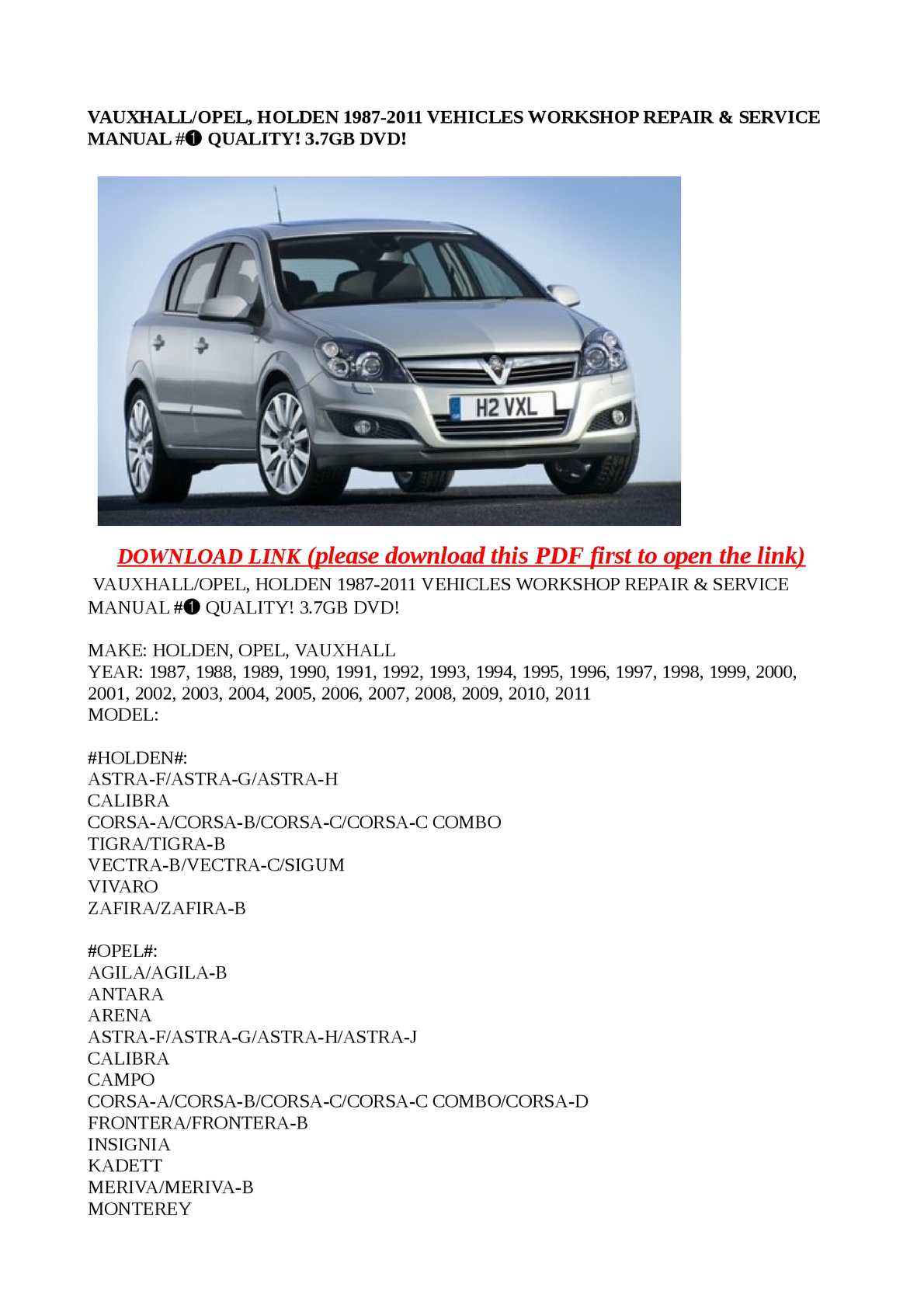 p1 calam�o vauxhall opel, holden 1987 2011 vehicles workshop repair vauxhall astra h wiring diagram pdf at bakdesigns.co