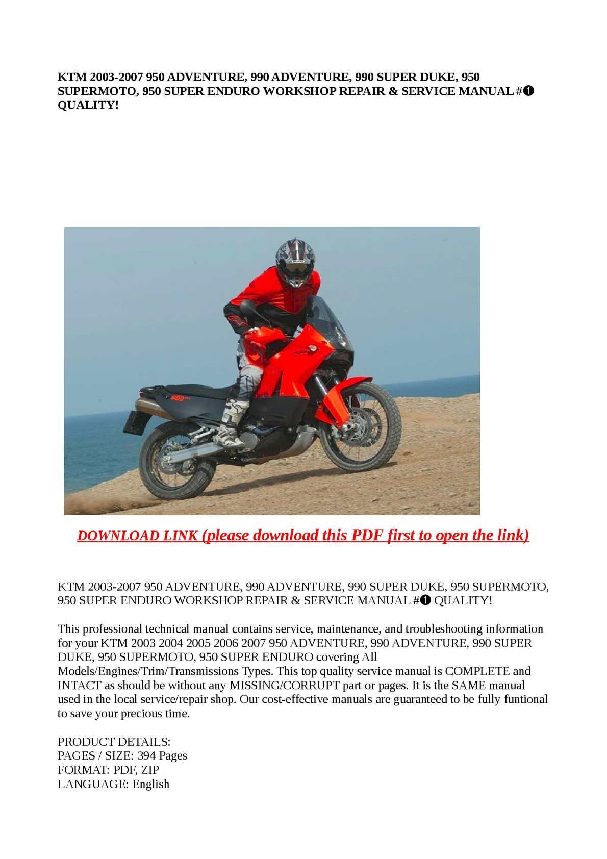 calam o ktm 2003 2007 950 adventure 990 adventure 990 super d rh calameo com