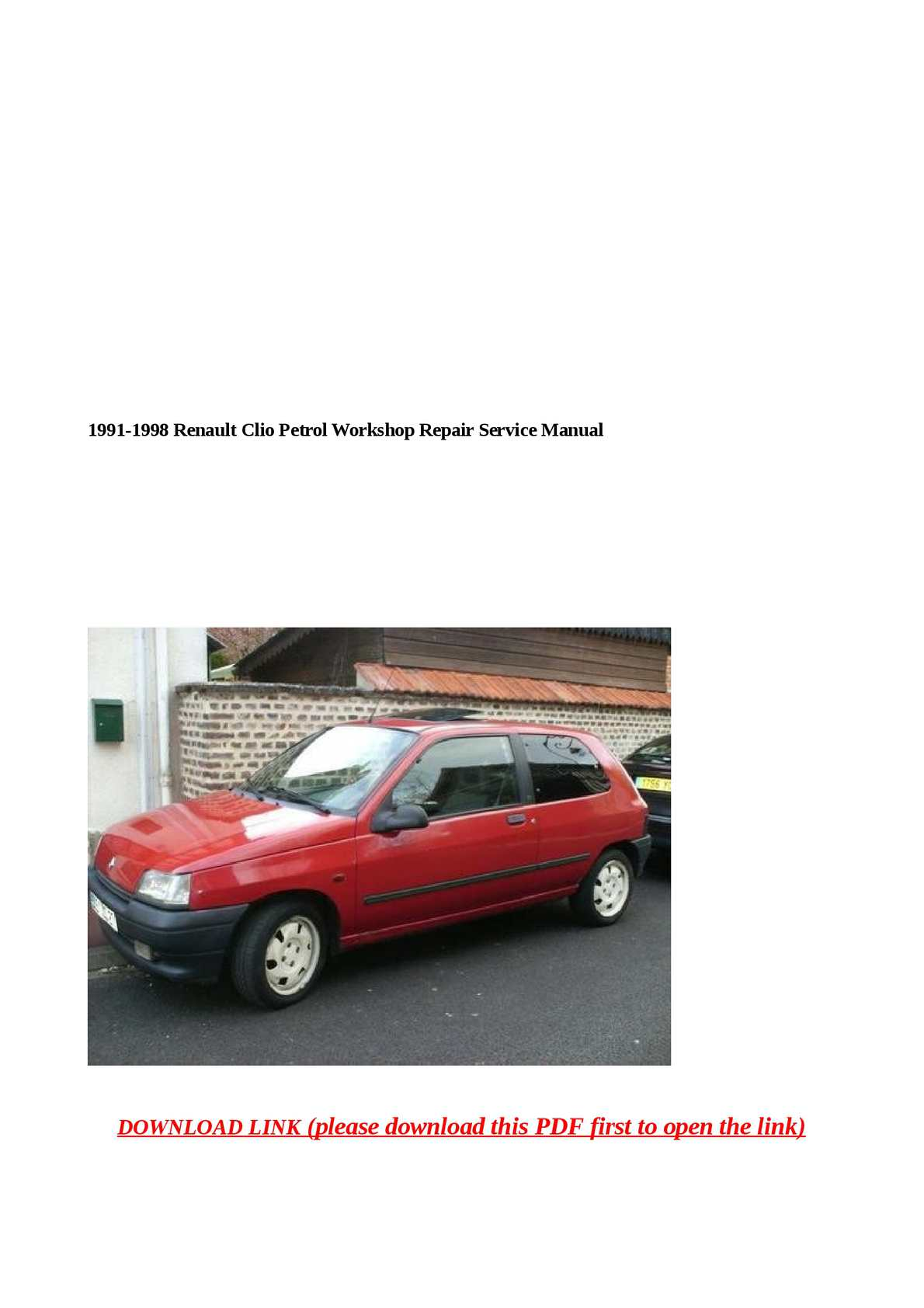 Renault clio ii manual pdf renault clio 1 manual pdf 1996 array calam o 1991 1998 renault clio petrol workshop repair service manual rh calameo fandeluxe Gallery