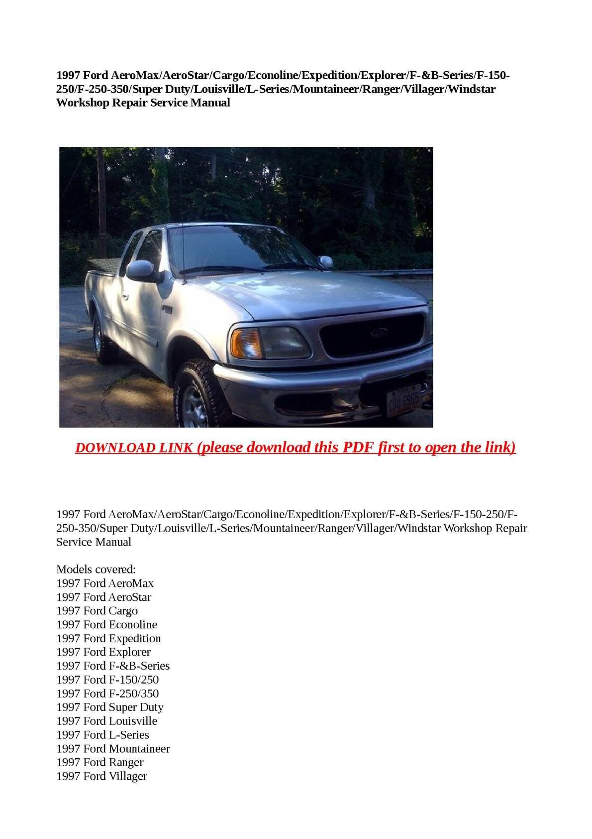 97 ford explorer repair manual pdf