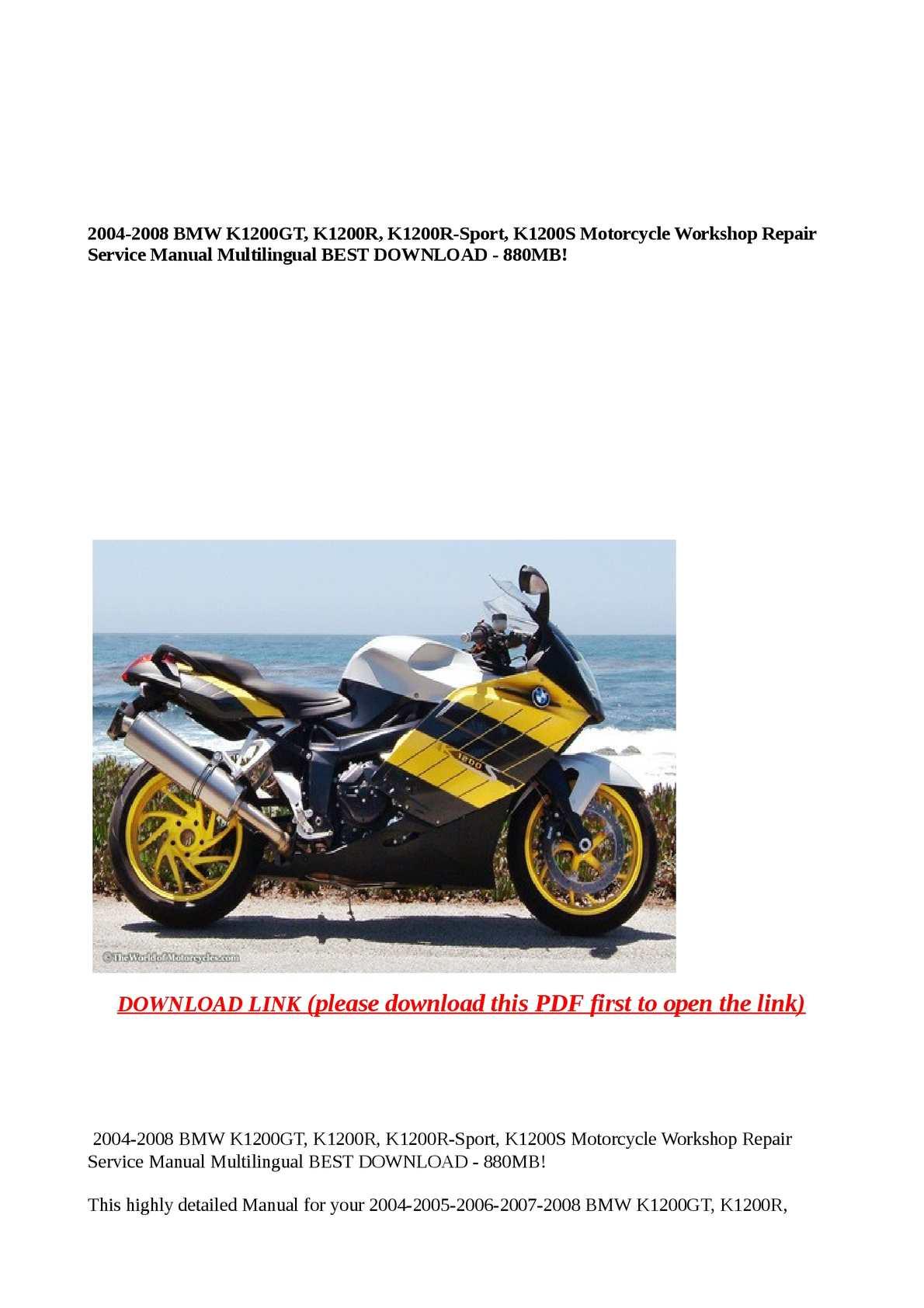 Calam o 20042008 BMW K1200GT K1200R K1200RSport K1200S – K1200gt Wiring Diagram