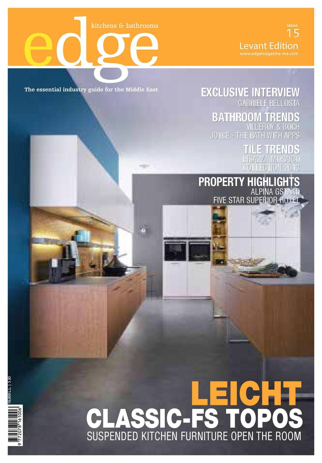 Calaméo - EDGE Kitchens & Bathrooms Magazine Levant issue 15