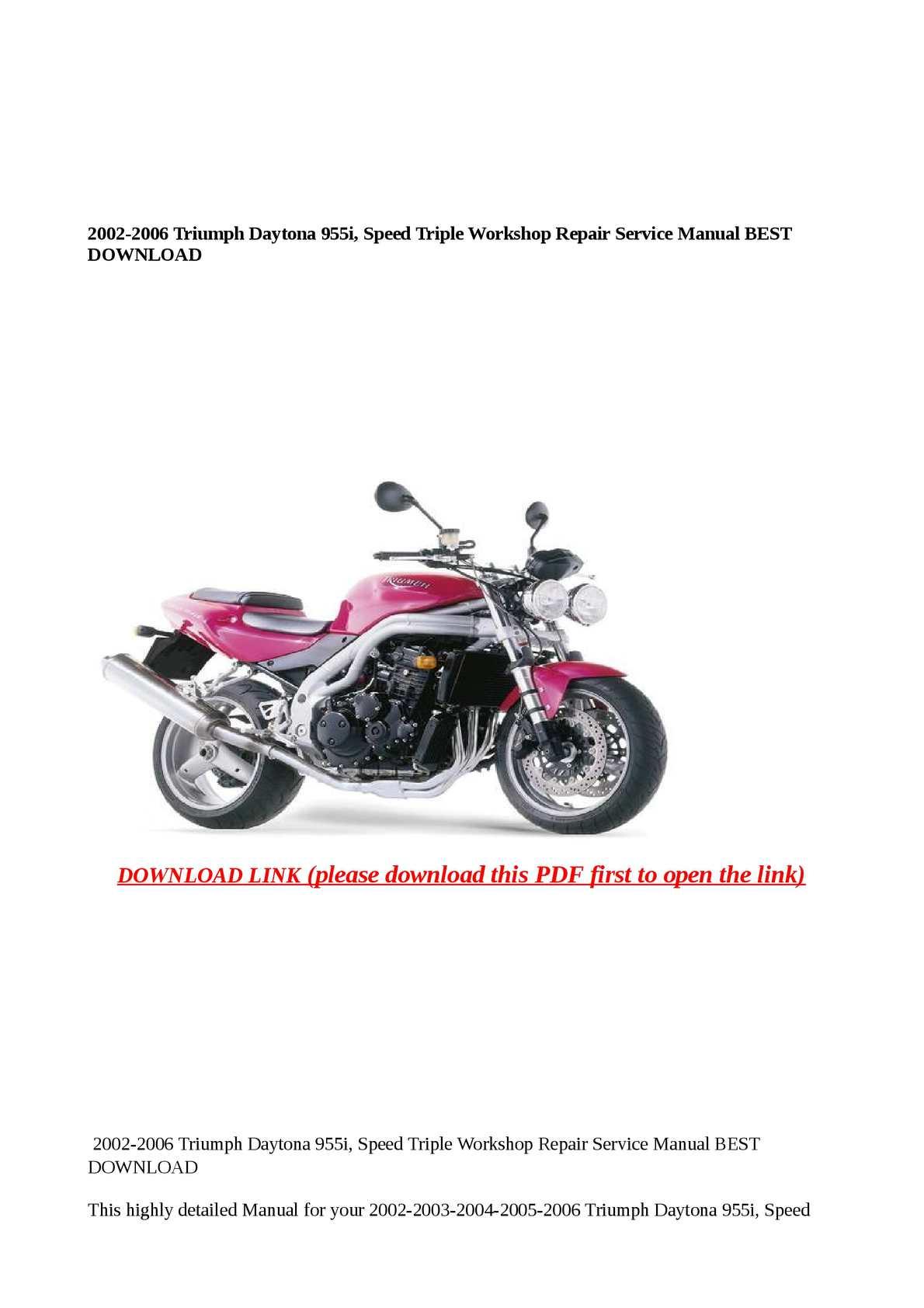 2002 Triumph Speed Triple Wiring Diagram