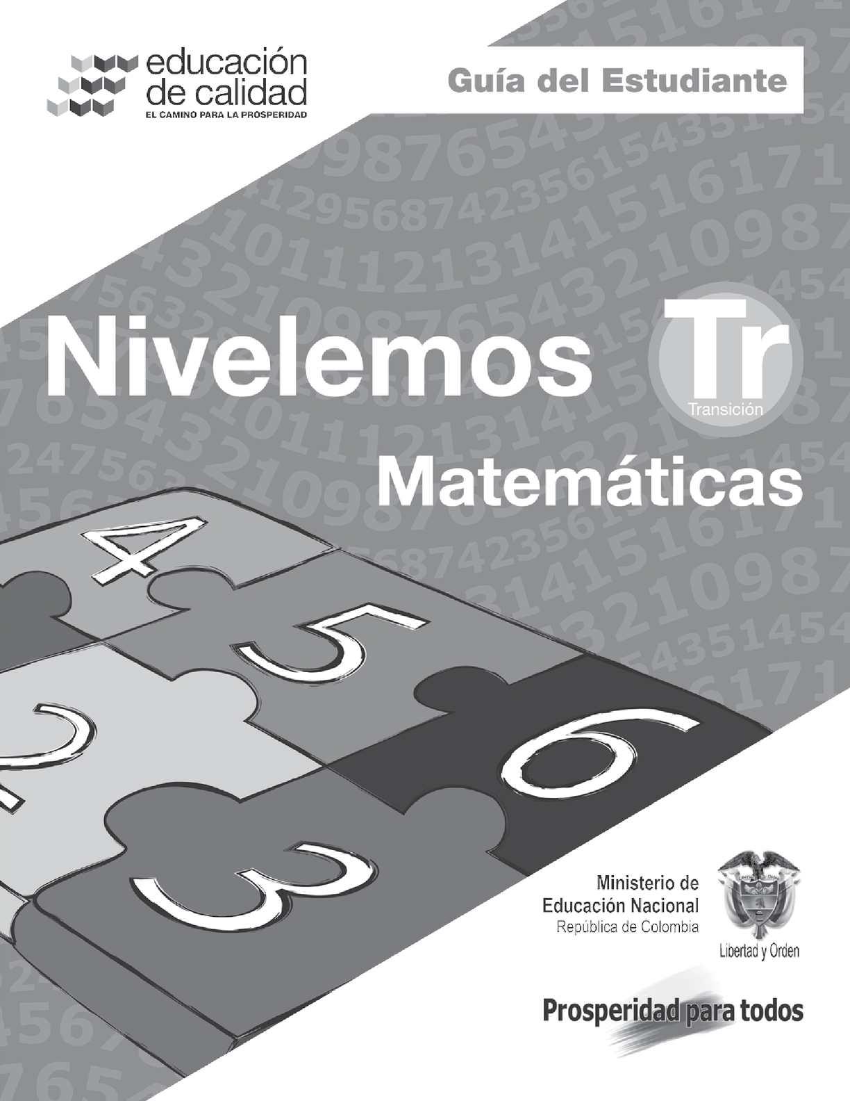 Nivelemos- Guía de Matemáticas del estudiante- Transición