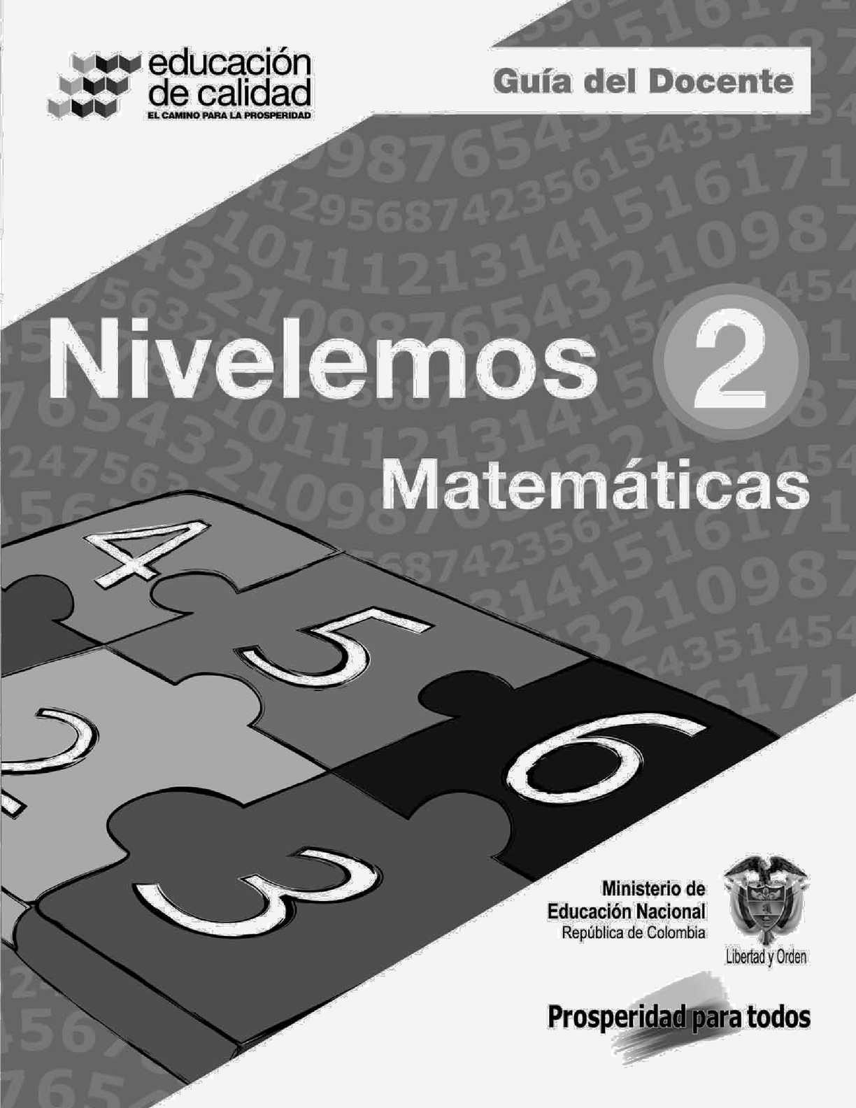 Nivelemos- Guía del docente de Matemáticas 2°