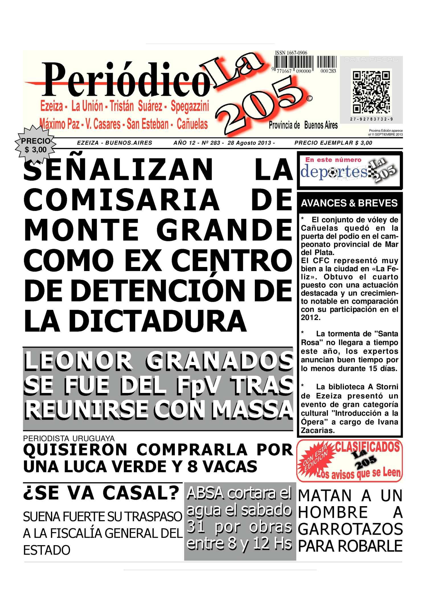 Calaméo - Edicion 283 del 28 de Agosto 2013