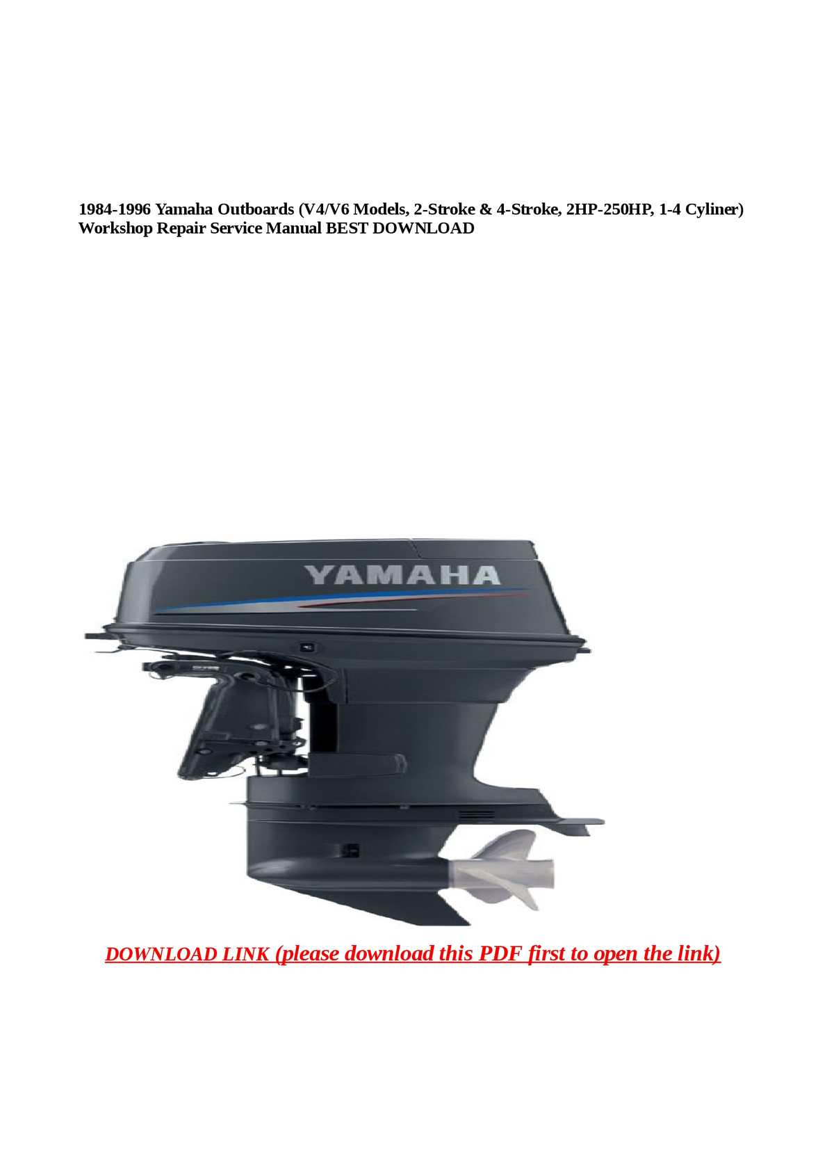 1987 1992 yamaha 30hp 2 stroke outboard repair manual pdf