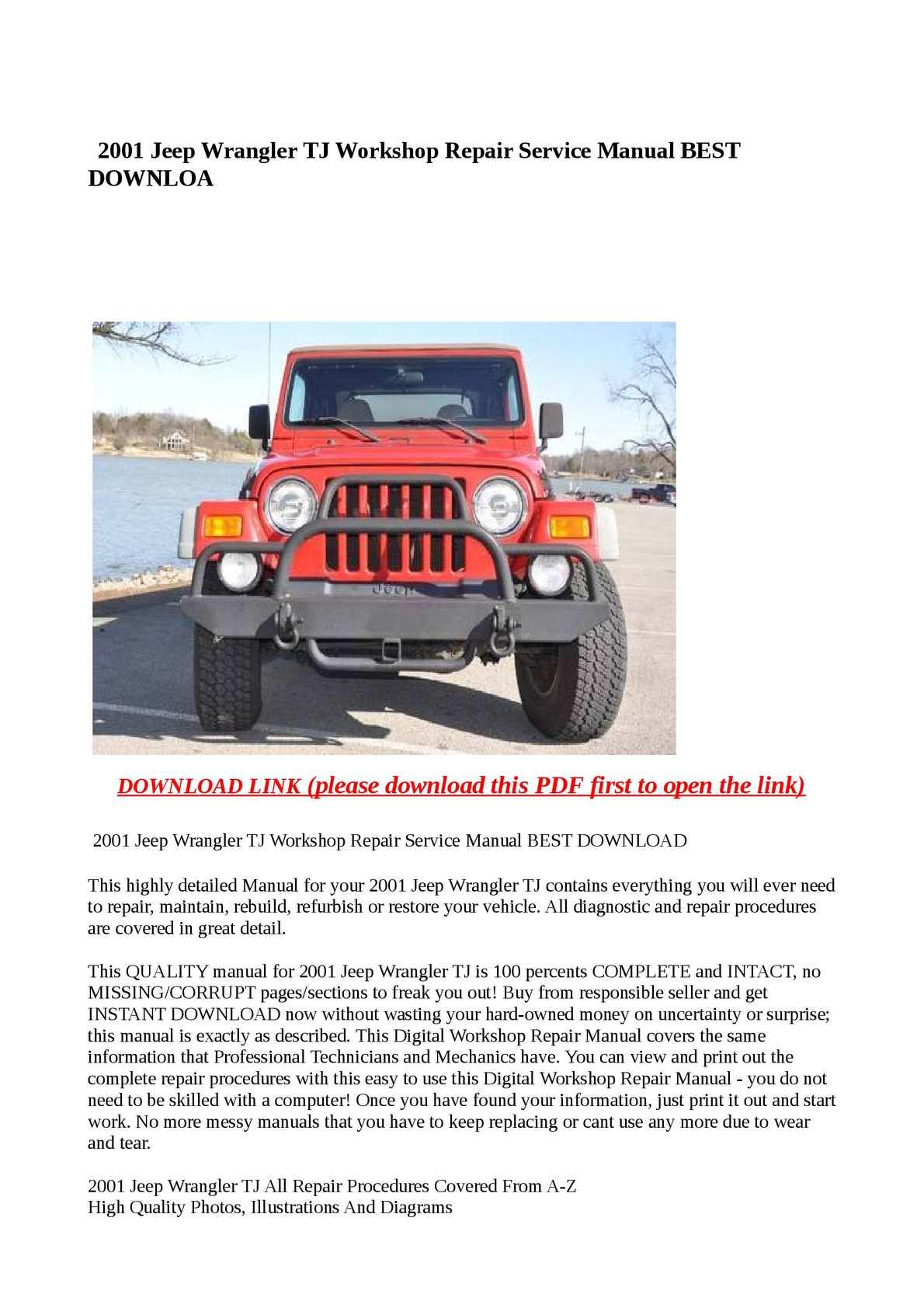 best jeep repair manual