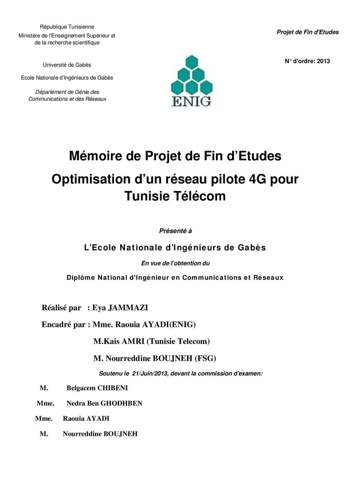 Dimensionnement et Planification d'un reseau-4G LTE