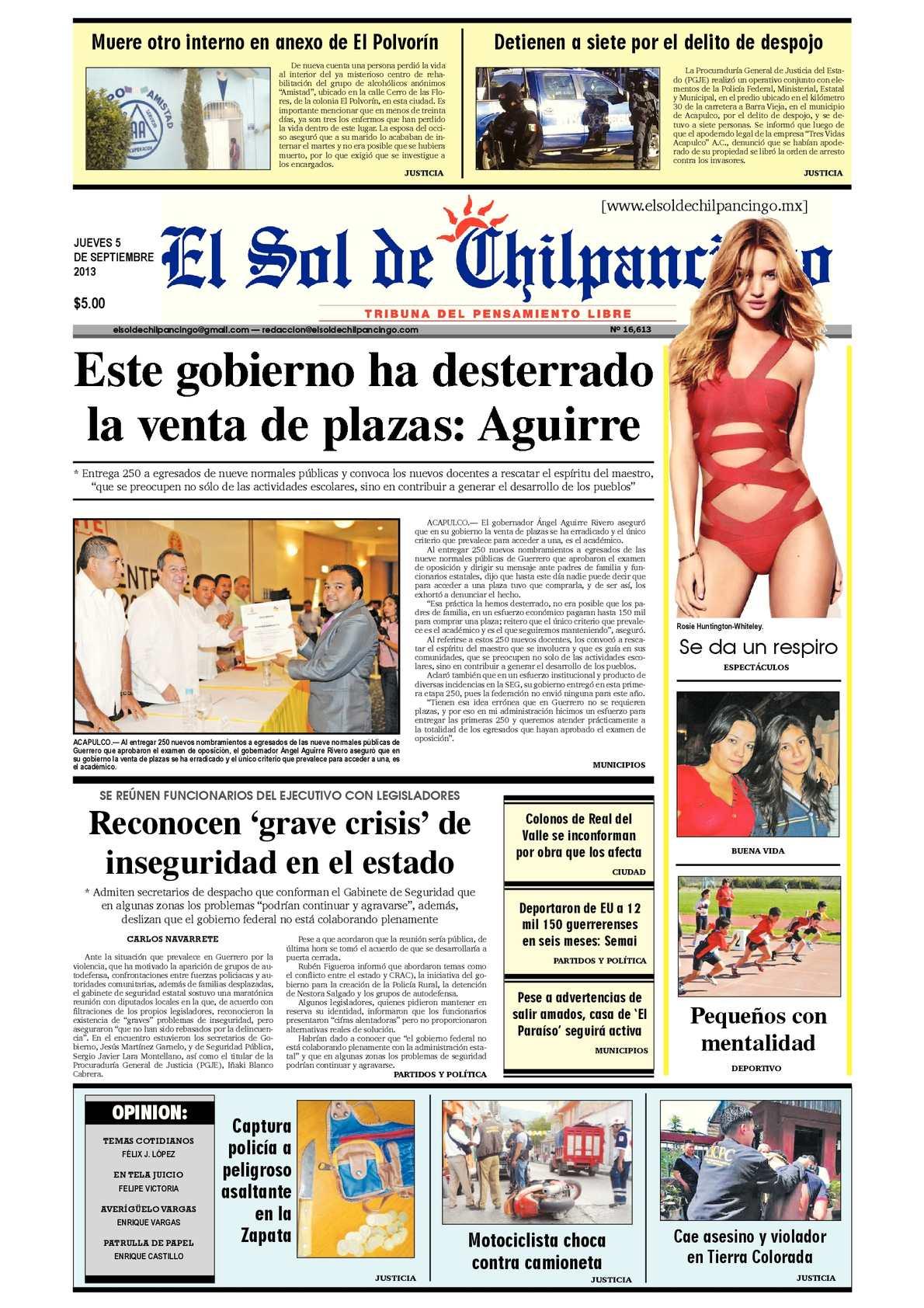 Calaméo - El Sol de Chilpancingo 5 Septiembre 2013