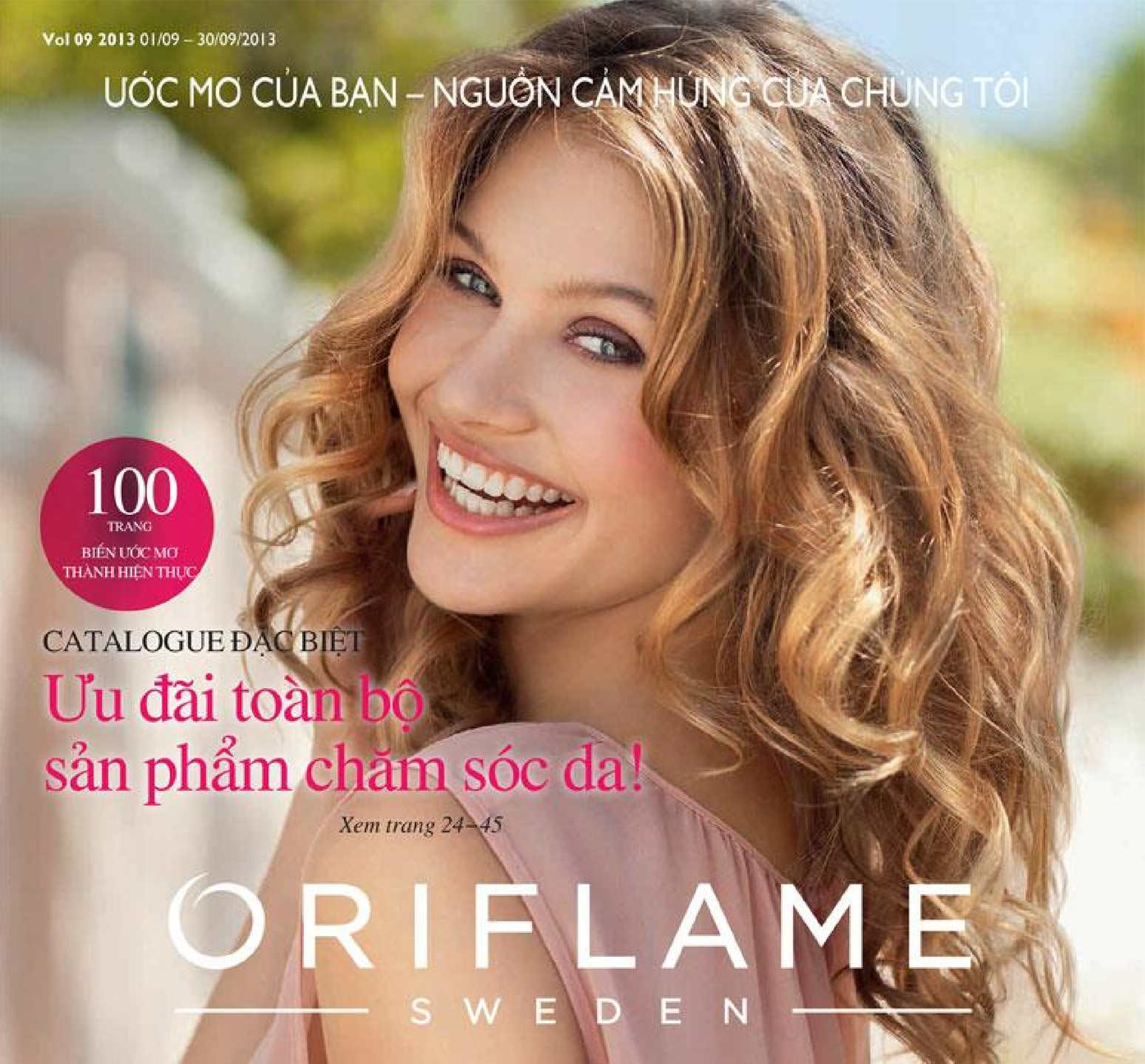 Catalogue My Pham Oriflame 9-2013