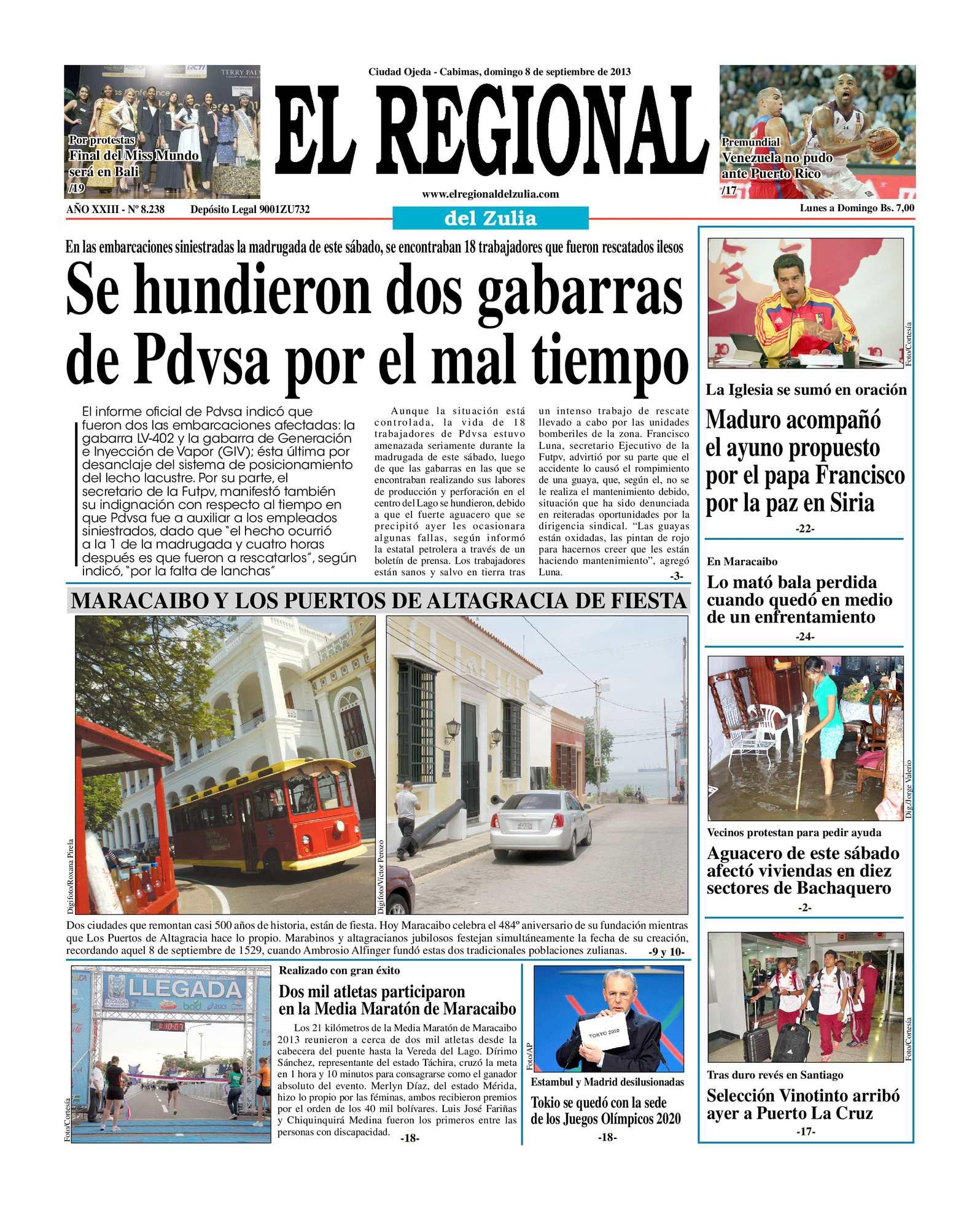 Calaméo - El Regional del Zulia 08-09-2013