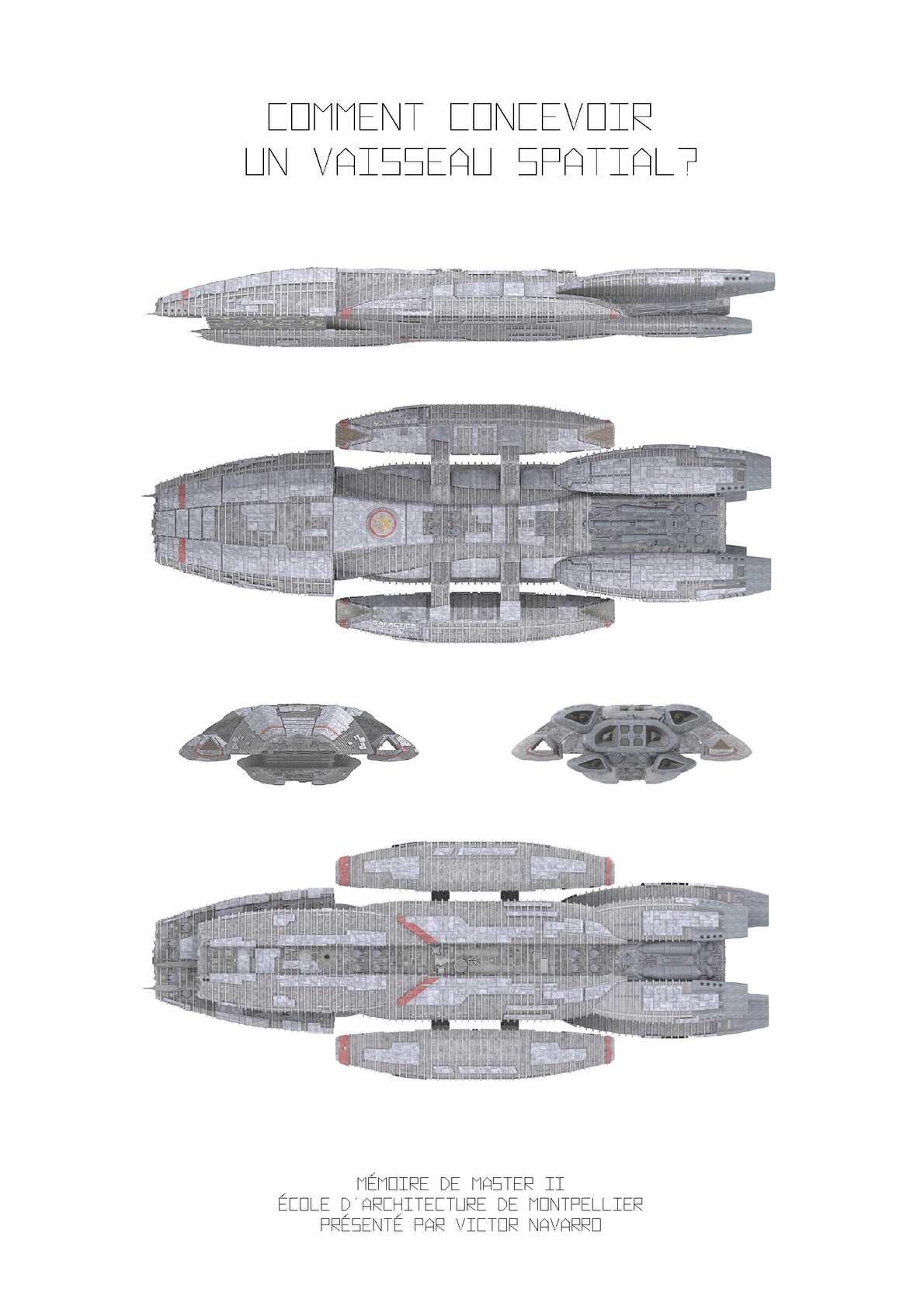 Comment concevoir un vaisseau spatial? - Mémoire de Master II Architecture - Victor Navarro
