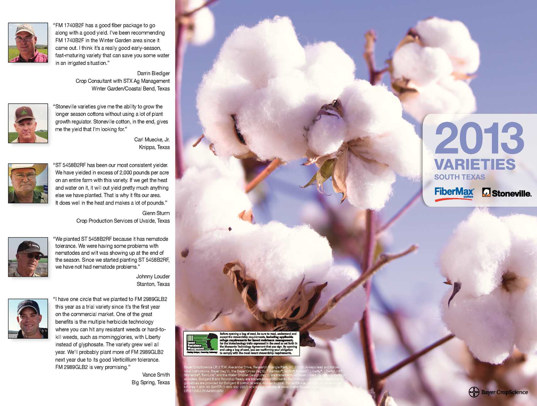 calaméo fibermax and stoneville south texas cotton varieties 2013
