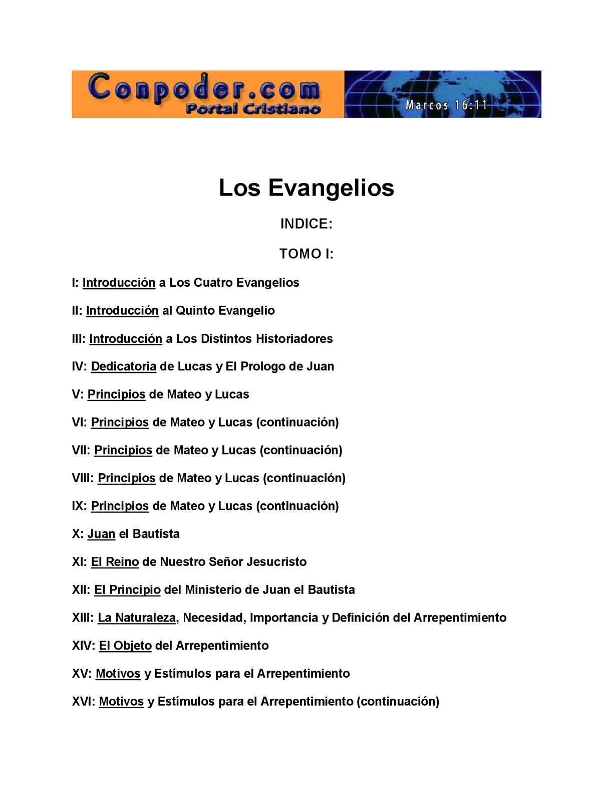 Calaméo - Los Evangelios Tomo I