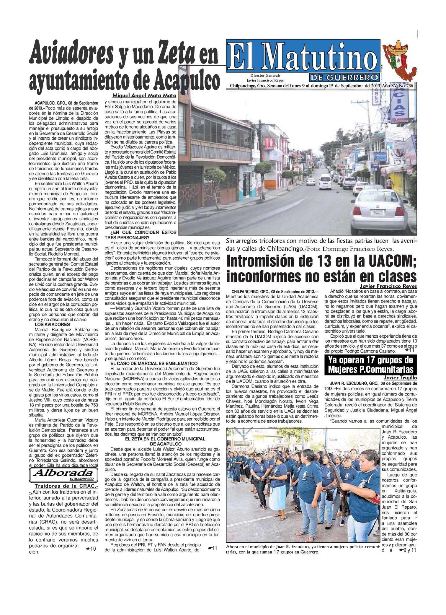 Calaméo - Semana del Lunes 9 al domingo 15 de Septiembre del 2013 ...