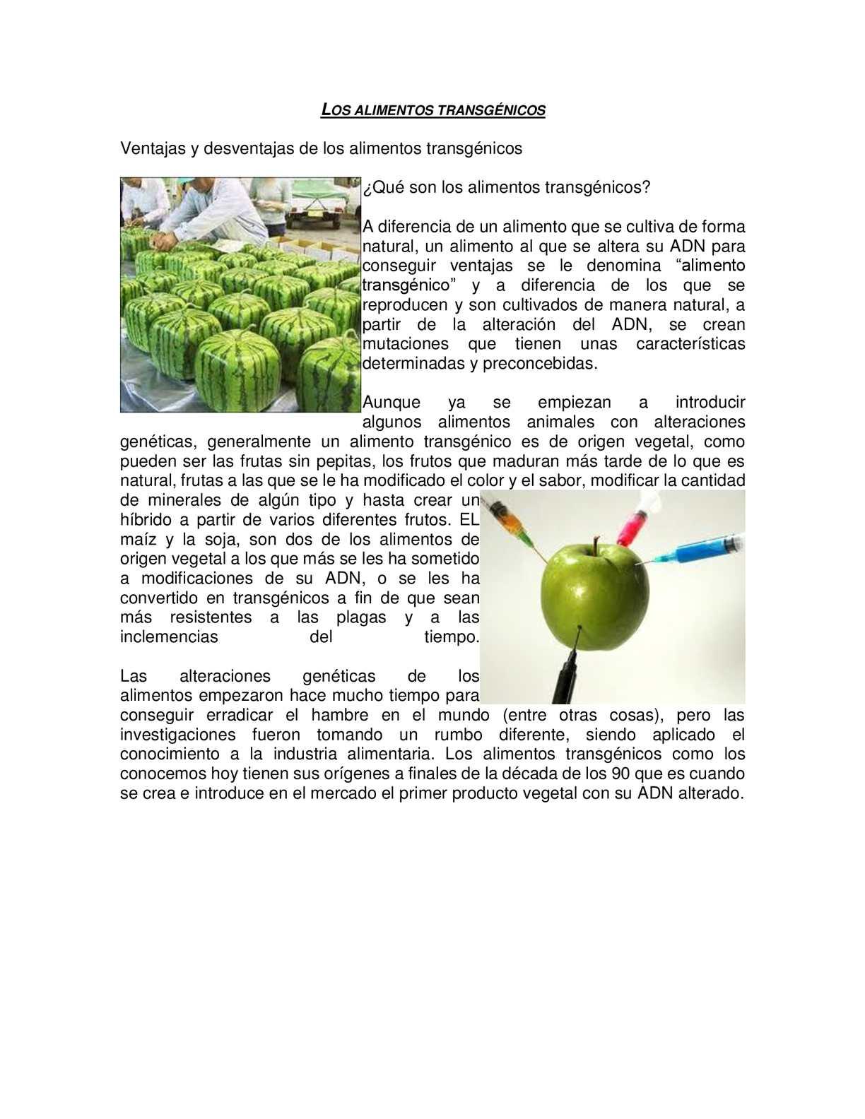 Calam o alimentos transg nicos - Ventajas alimentos transgenicos ...
