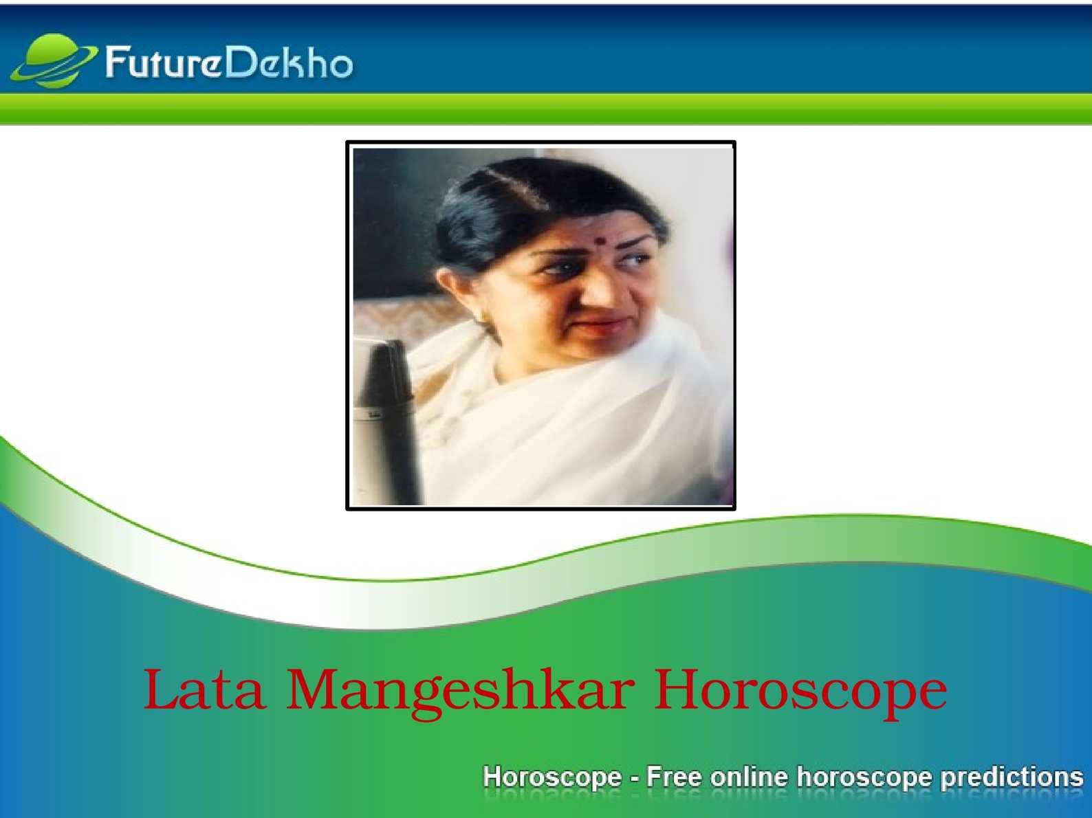 Calamo lata mangeshkar horoscope chart nvjuhfo Choice Image