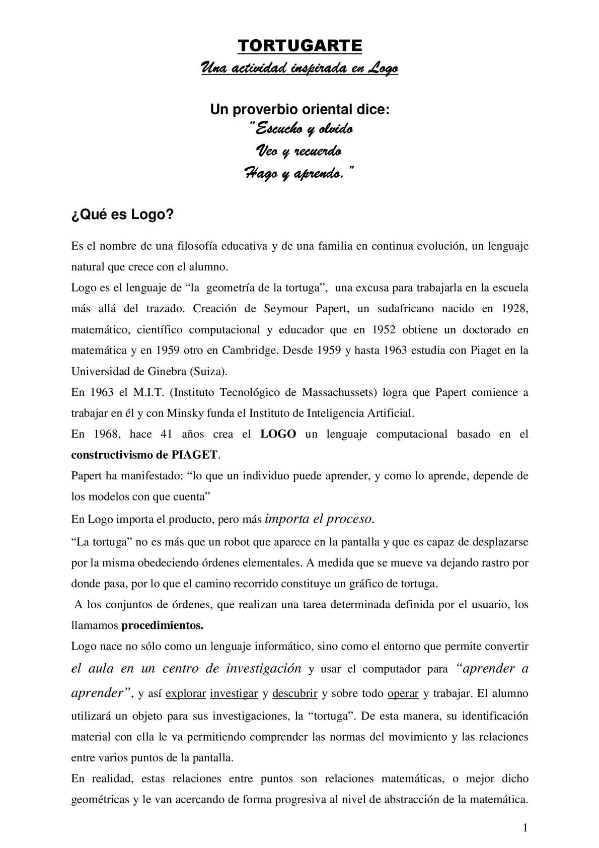 Calaméo - PROGRAMACION EN TORTUGARTE