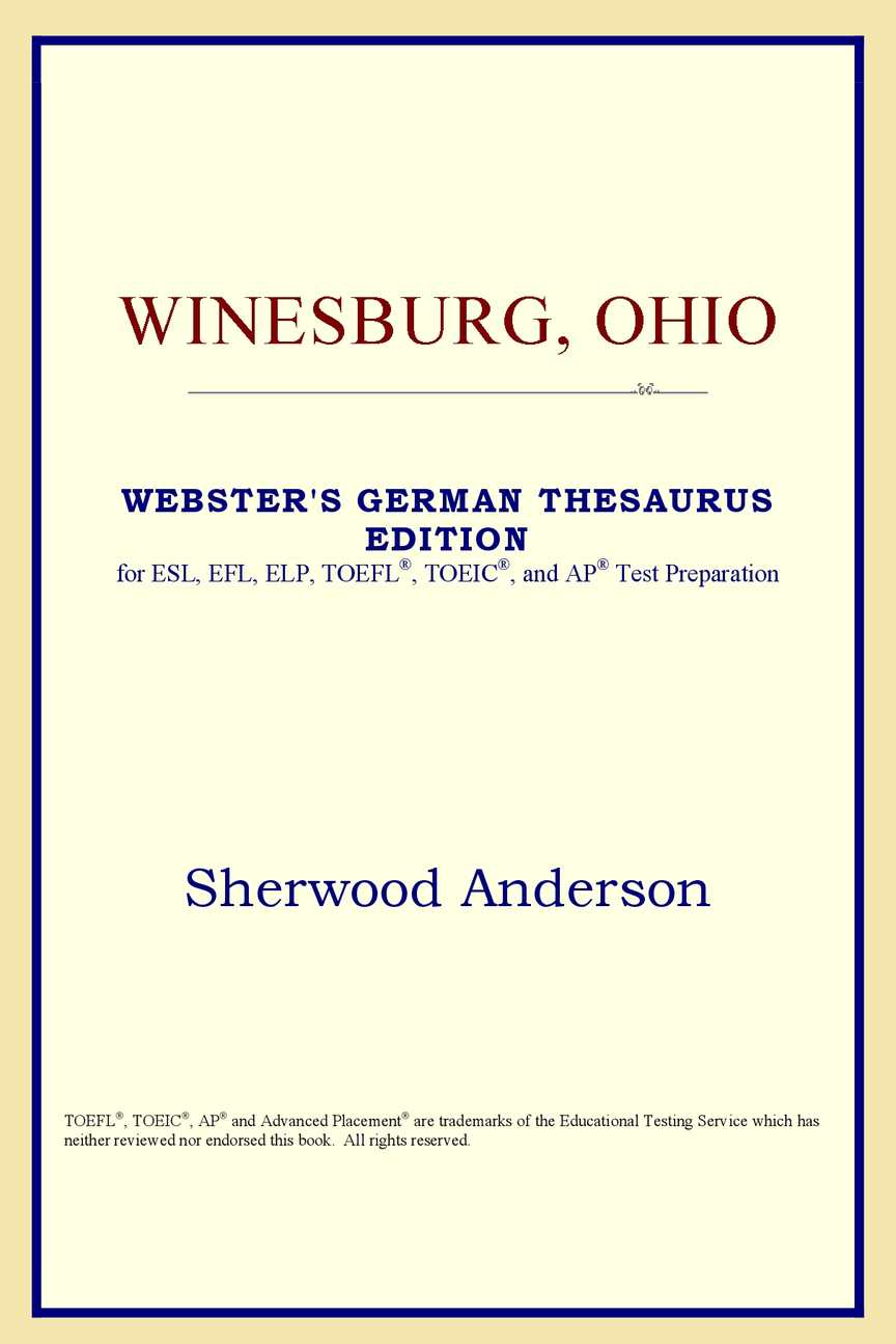 Calaméo - Winesburg, Ohio (Webster's German Thesaurus Edition) Sherwood  Anderson