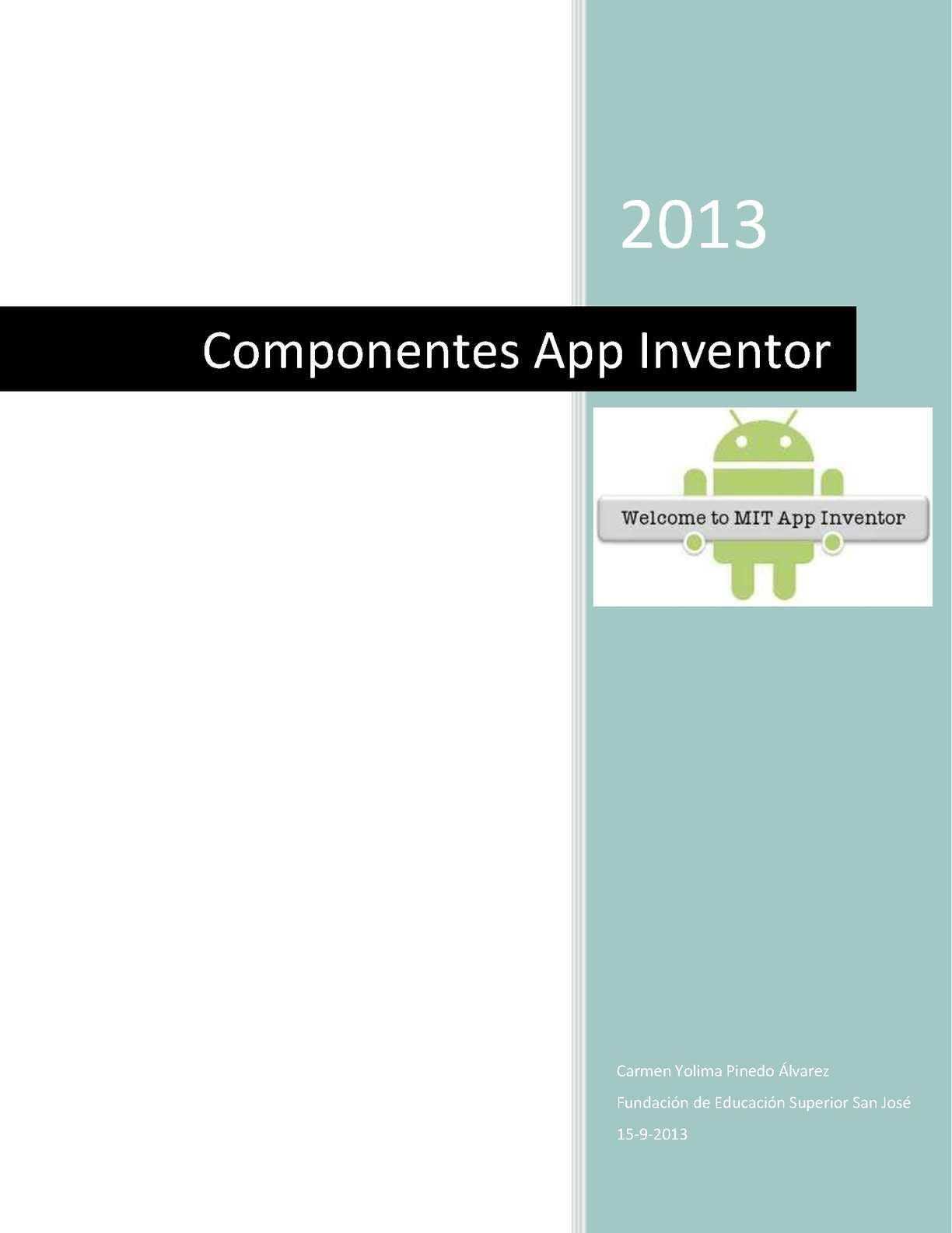 Componentes App Inventor
