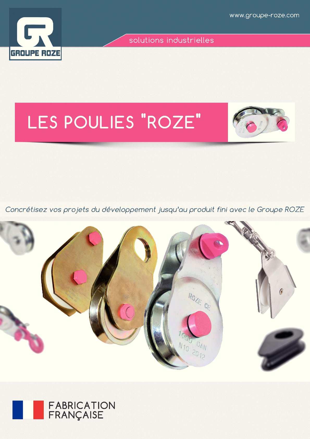 Catalogue Poulies Roze